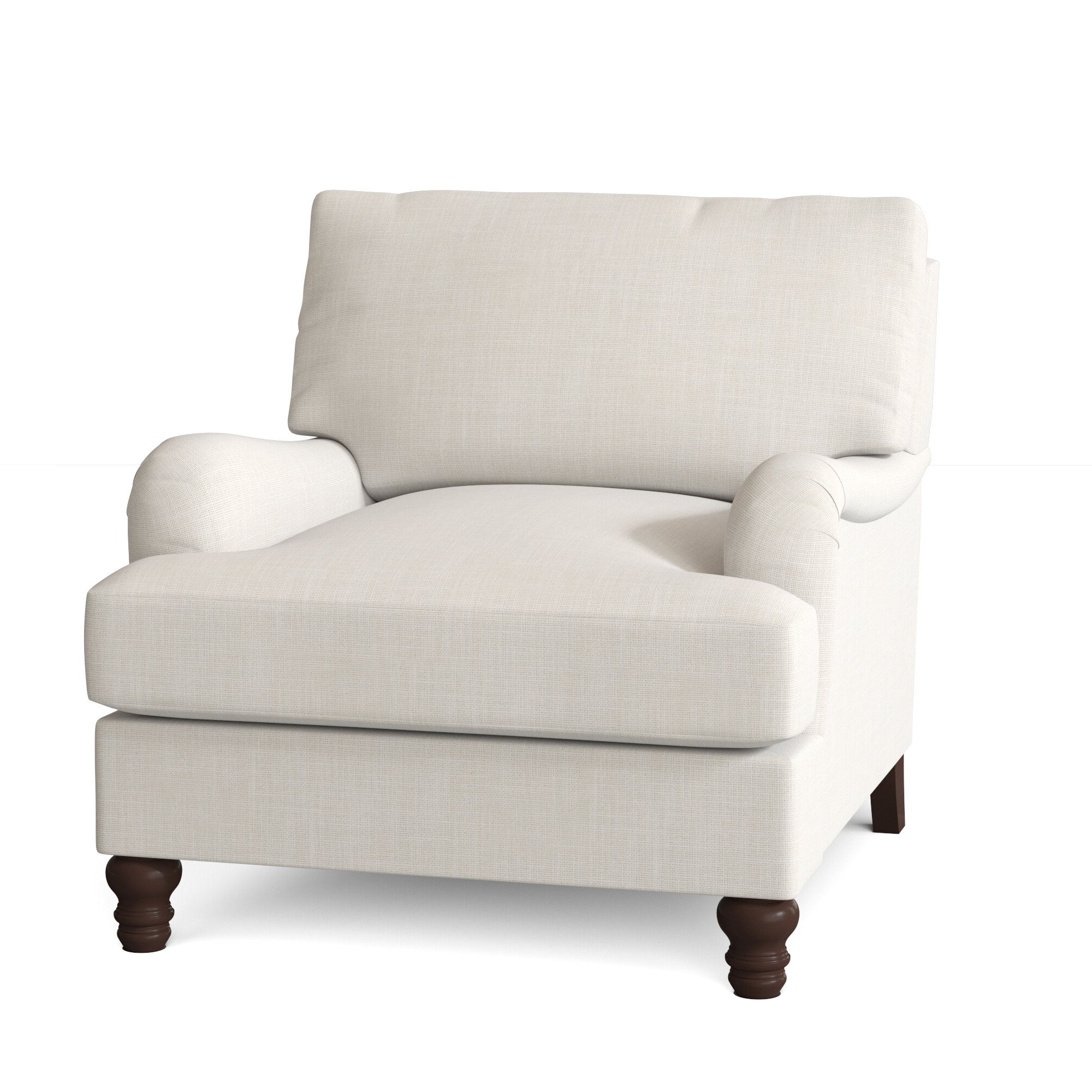 """Ronald Polyester Blend Armchairs Intended For Favorite Montgomery 36"""" W Polyester Blend Down Cushion Armchair (View 13 of 20)"""