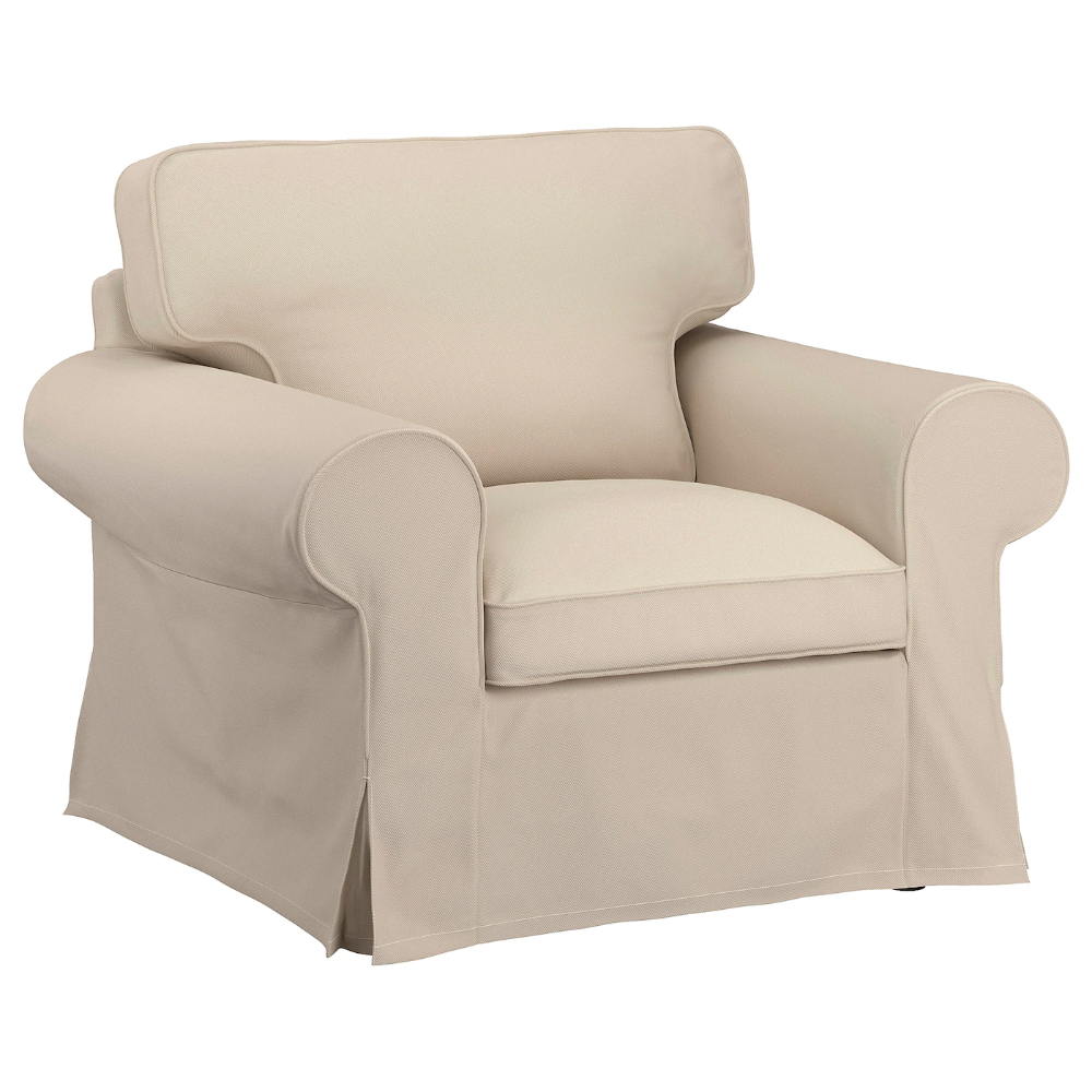 Ronald Polyester Blend Armchairs With Regard To Widely Used Uppland Armchair – Hallarp Beige – Ikea (View 4 of 20)