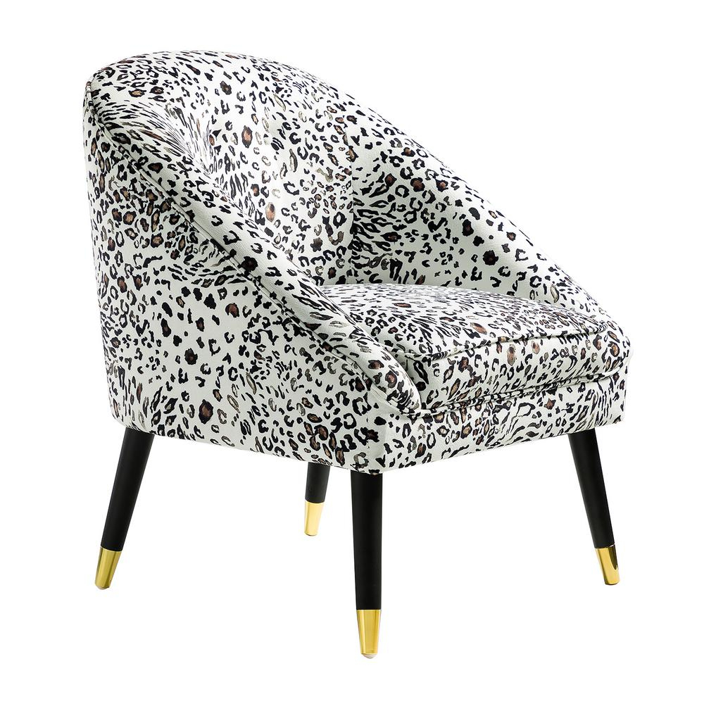 Ronda Barrel Chairs Pertaining To Most Up To Date Jayden Creation Larisa Leopard Tufted Barrel Chair Chm0020 Leopard – The Home Depot (View 11 of 20)