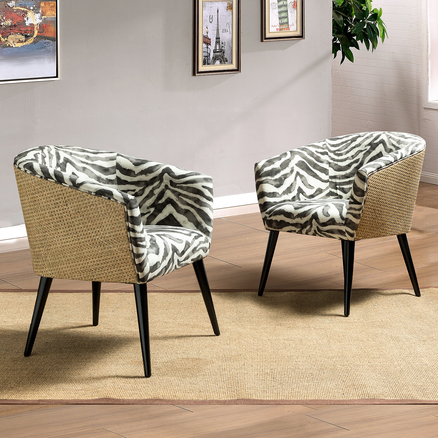 Ronda Barrel Chairs Pertaining To Popular Andreal Barrel Chair (View 8 of 20)
