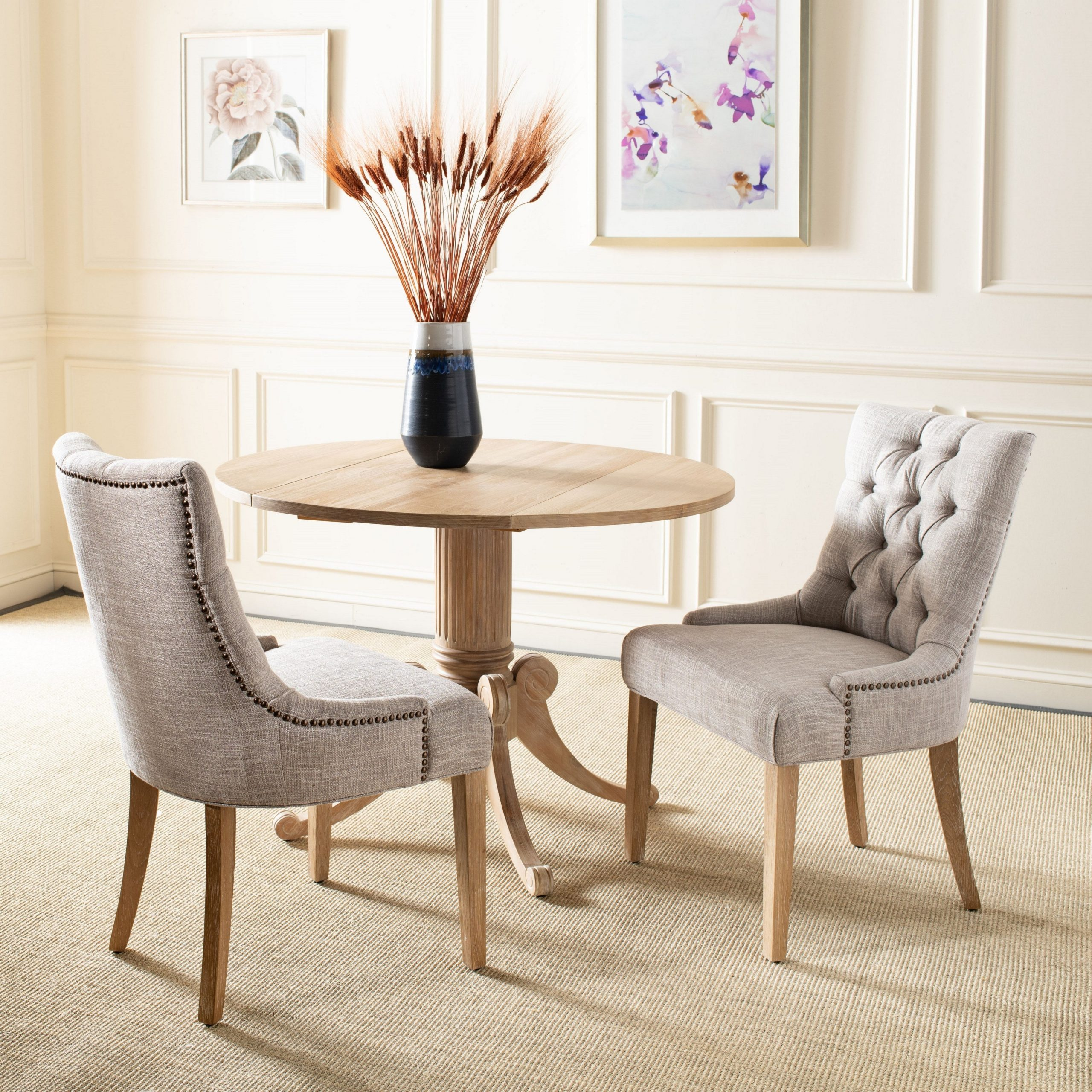 """Safavieh Dining Abby Viscose Blend Dining Chairs (set Of 2) – 22""""x23.8""""x (View 15 of 20)"""