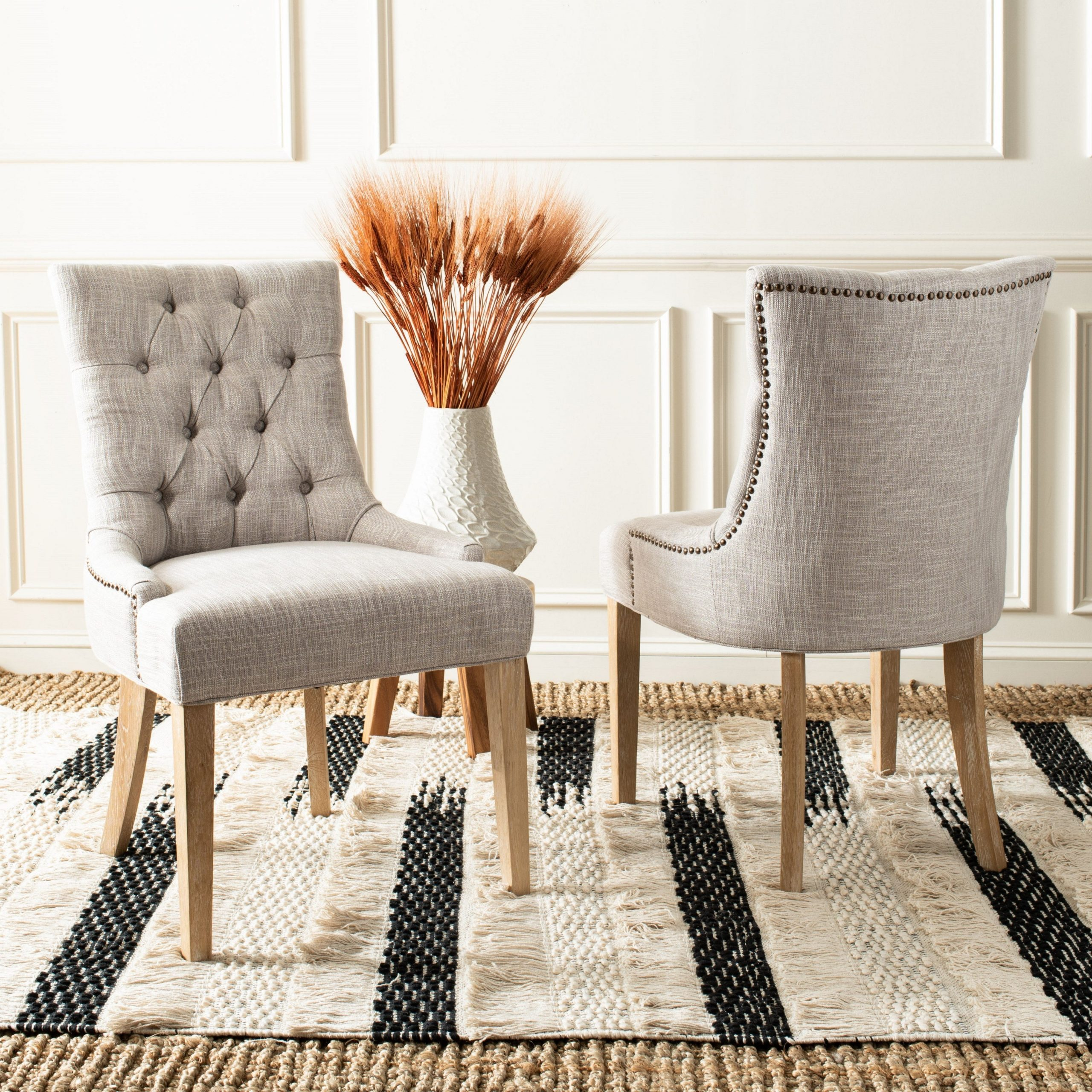 """Safavieh Dining Abby Viscose Blend Dining Chairs (set Of 2) – 22""""x23.8""""x (View 16 of 20)"""