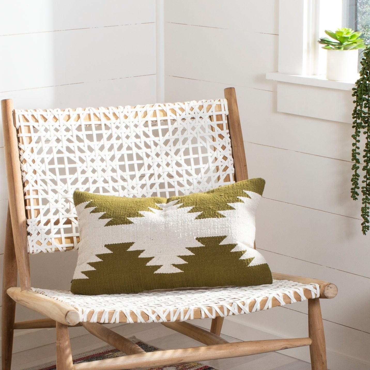 Safavieh Haleigh Decorative Pillow Beige/green Inside Famous Haleigh Armchairs (View 19 of 20)