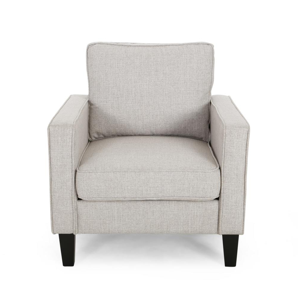 Saige Wingback Chairs For Well Liked Sienna Beige Fabric Upholstered Club Chair (View 13 of 20)