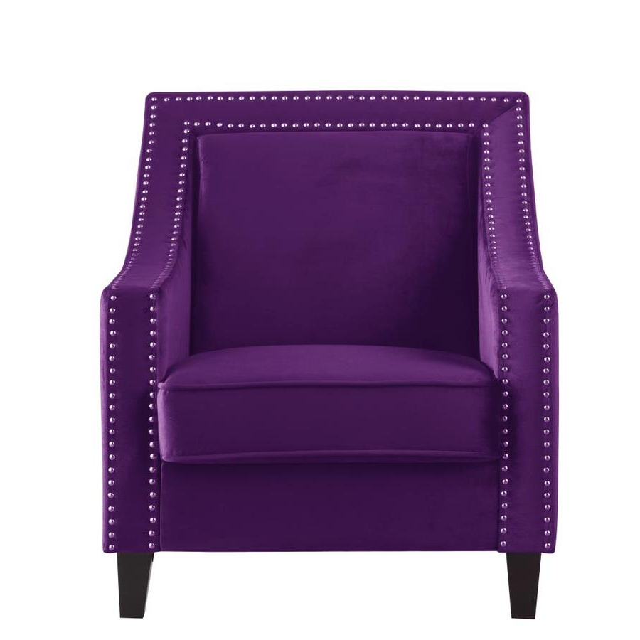 Saige Wingback Chairs In Current Purple Living Room Furniture At Lowes (View 18 of 20)