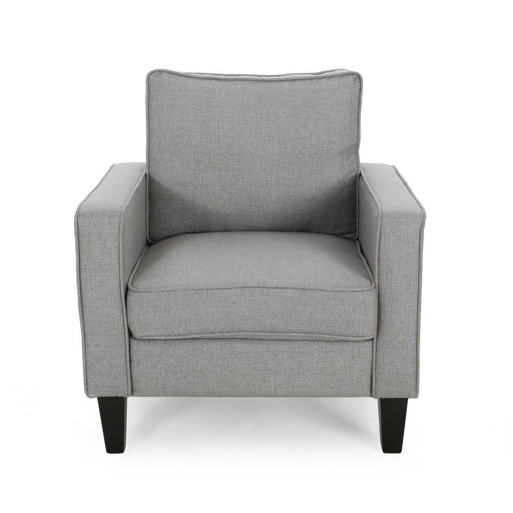 Saige Wingback Chairs Inside 2020 Sienna Beige Fabric Upholstered Club Chair (View 14 of 20)