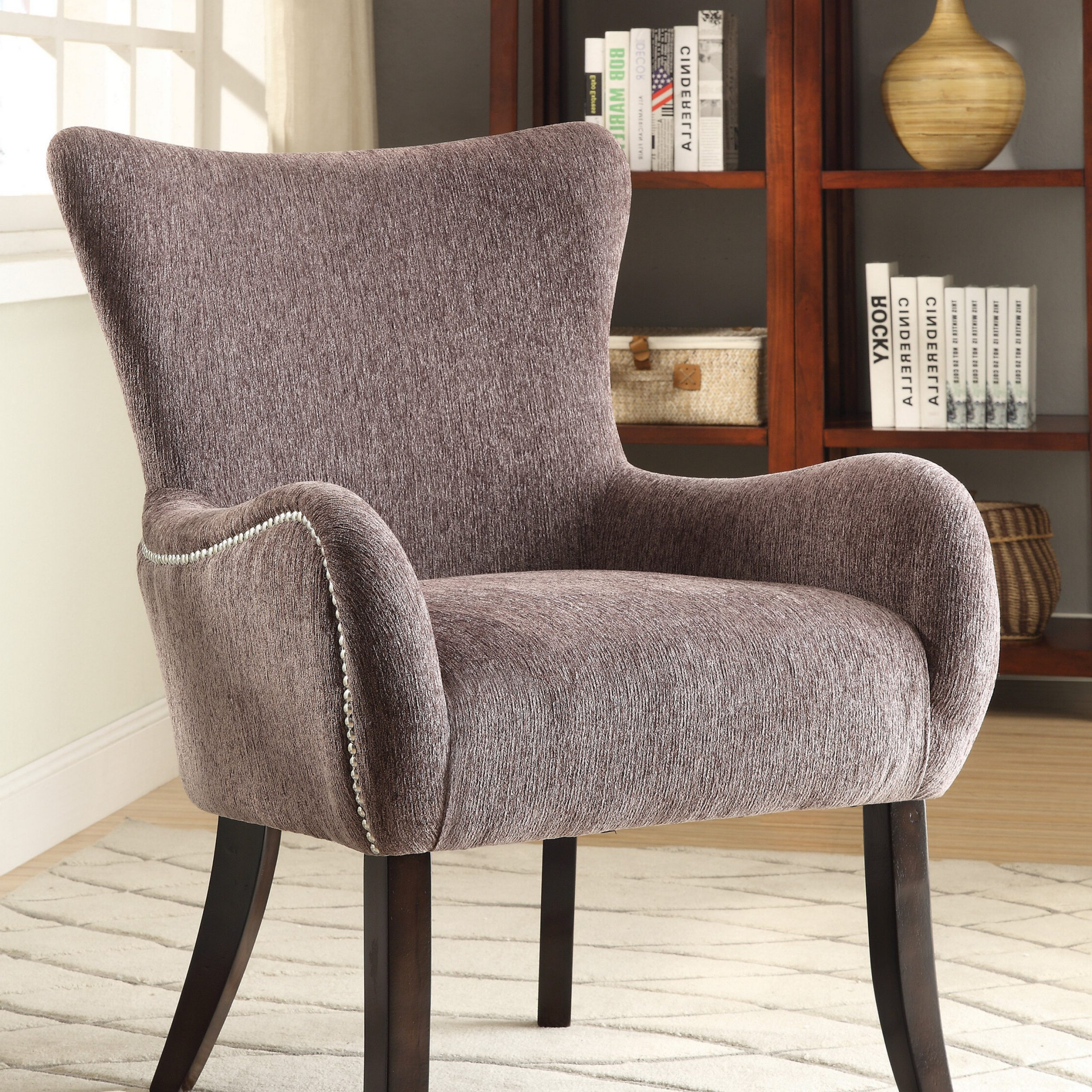 Saige Wingback Chairs Throughout Popular Chenille Wingback Accent Chairs You'll Love In  (View 19 of 20)