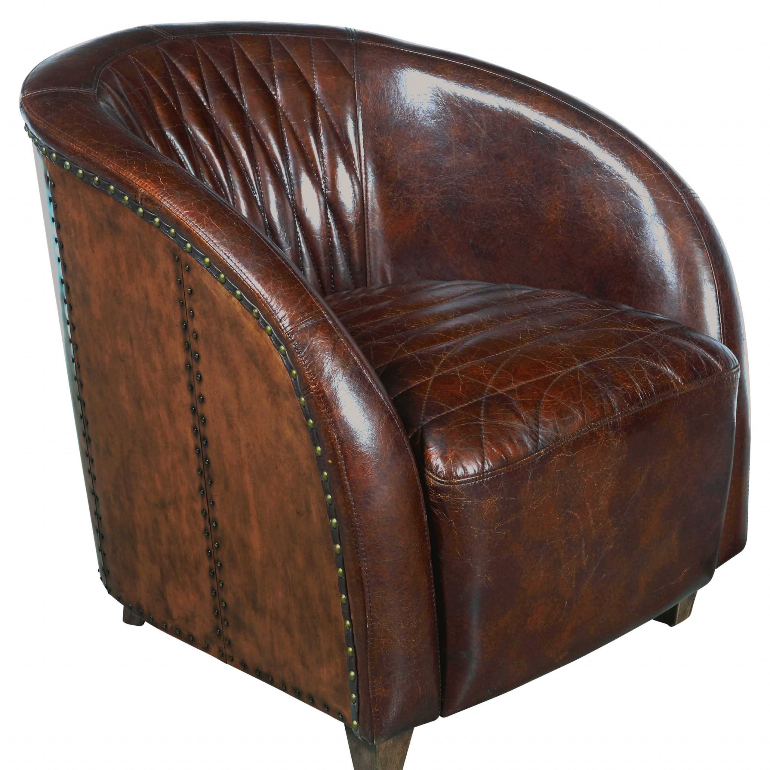Featured Photo of Sheldon Tufted Top Grain Leather Club Chairs