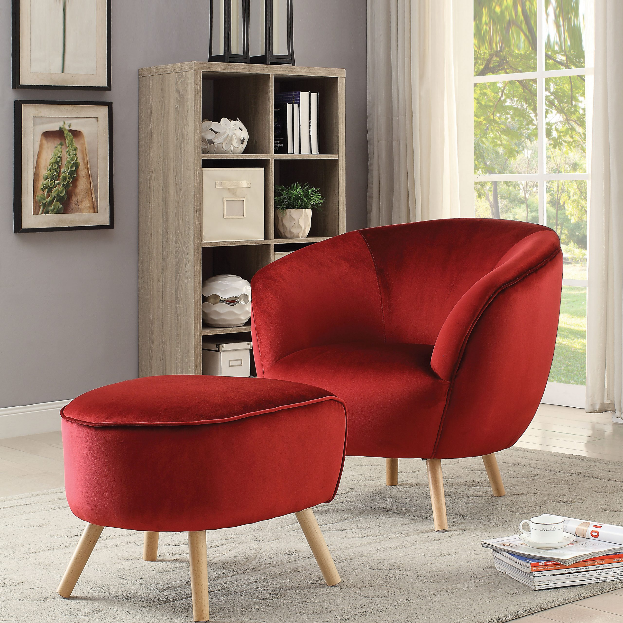 Shipststour Armchair And Ottoman Intended For Most Recently Released Riverside Drive Barrel Chair And Ottoman Sets (View 5 of 20)