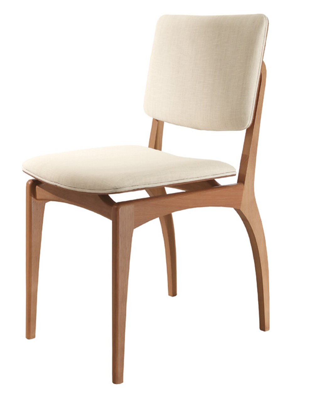 Side Chair In Beige Regarding Favorite Chiles Linen Side Chairs (View 10 of 20)