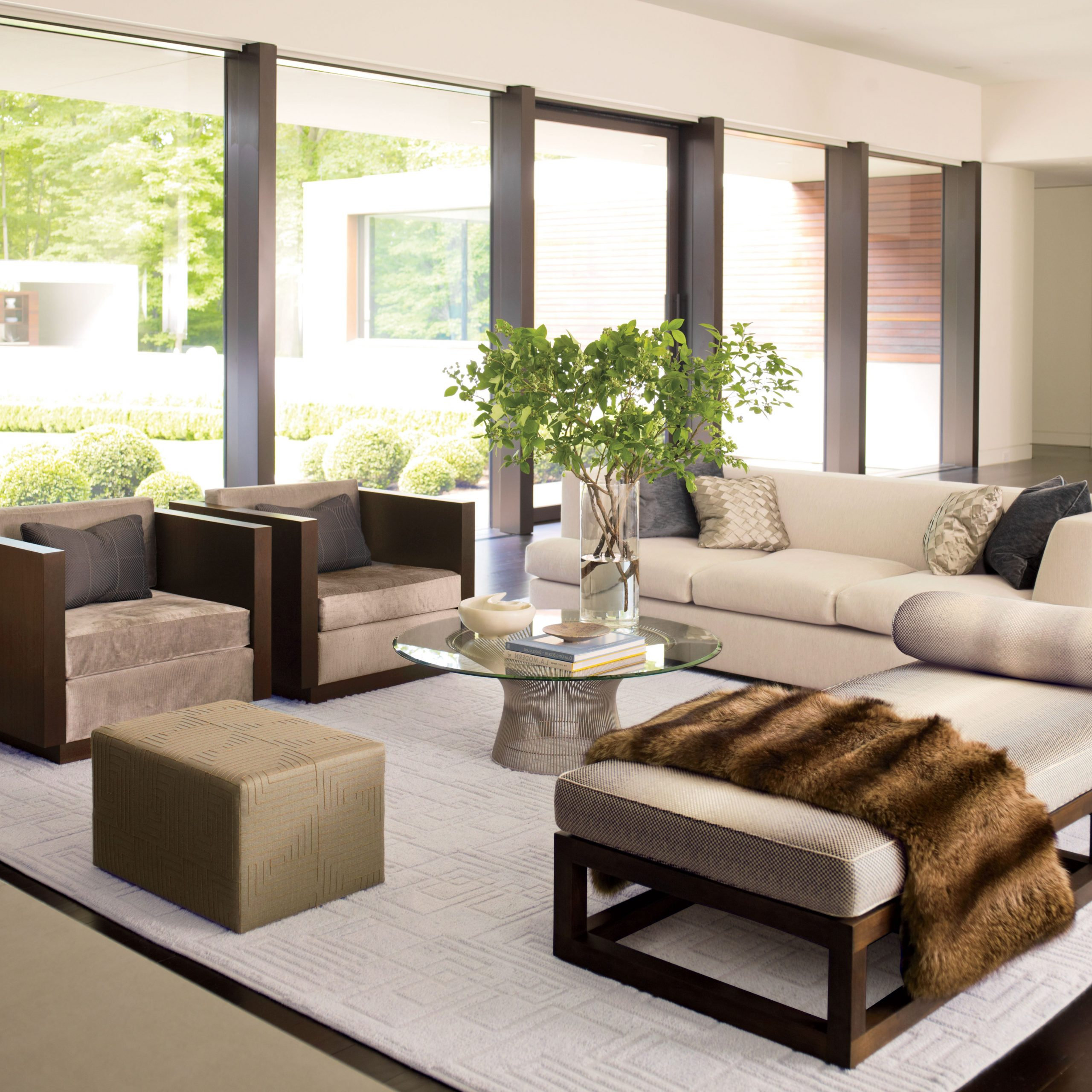 Starks Tufted Fabric Chesterfield Chair And Ottoman Sets Pertaining To Most Recent How To Incorporate Ottomans Into Your Living Room Decor (View 16 of 20)