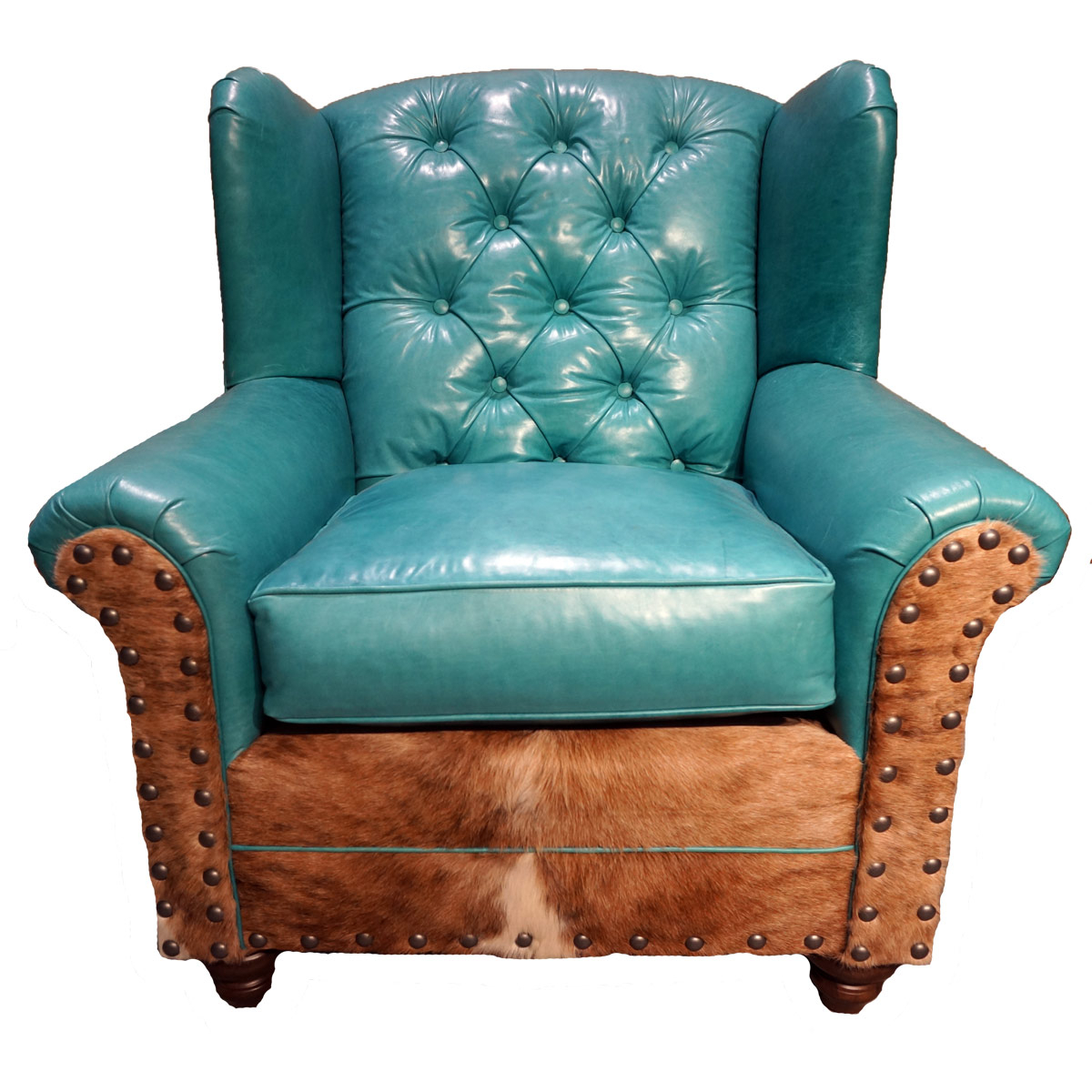 Sweetwater Wingback Chairs In Latest Albuquerque Turquoise Oversized Wingback Chair (View 6 of 20)