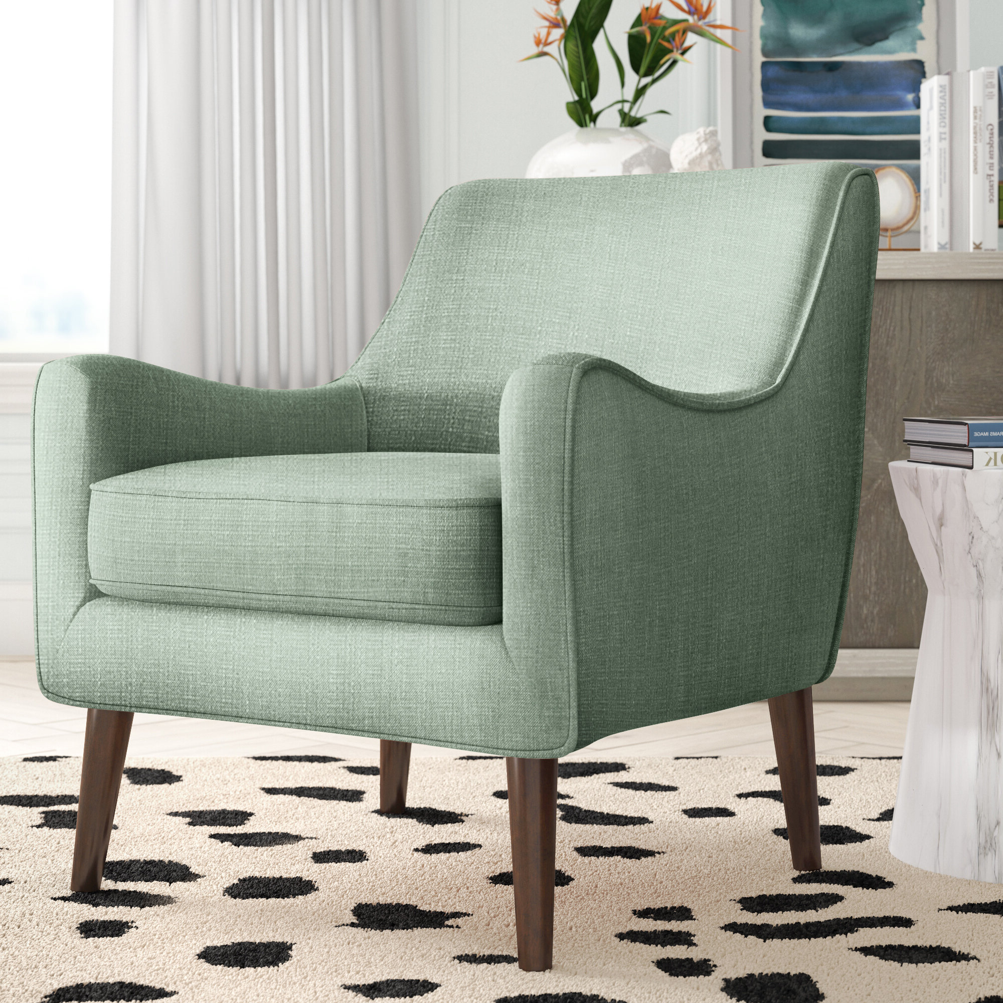 Sweetwater Wingback Chairs Regarding Well Known Green Rustic Accent Chairs You'll Love In  (View 19 of 20)