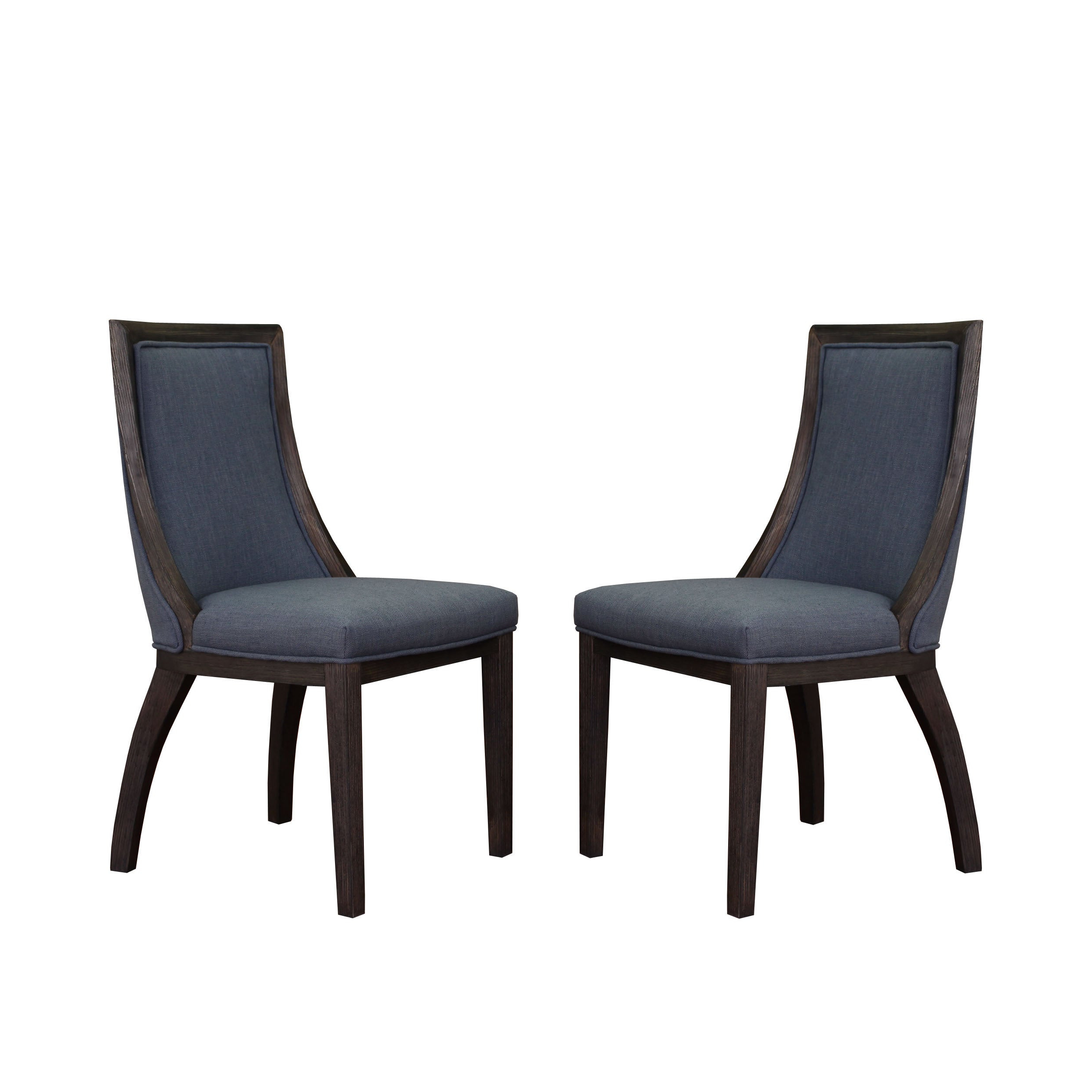 The Gray Barn Park Avenue Austria Navy Linen Dining Chair (set Of 2) Intended For Latest Madison Avenue Tufted Cotton Upholstered Dining Chairs (set Of 2) (View 8 of 20)