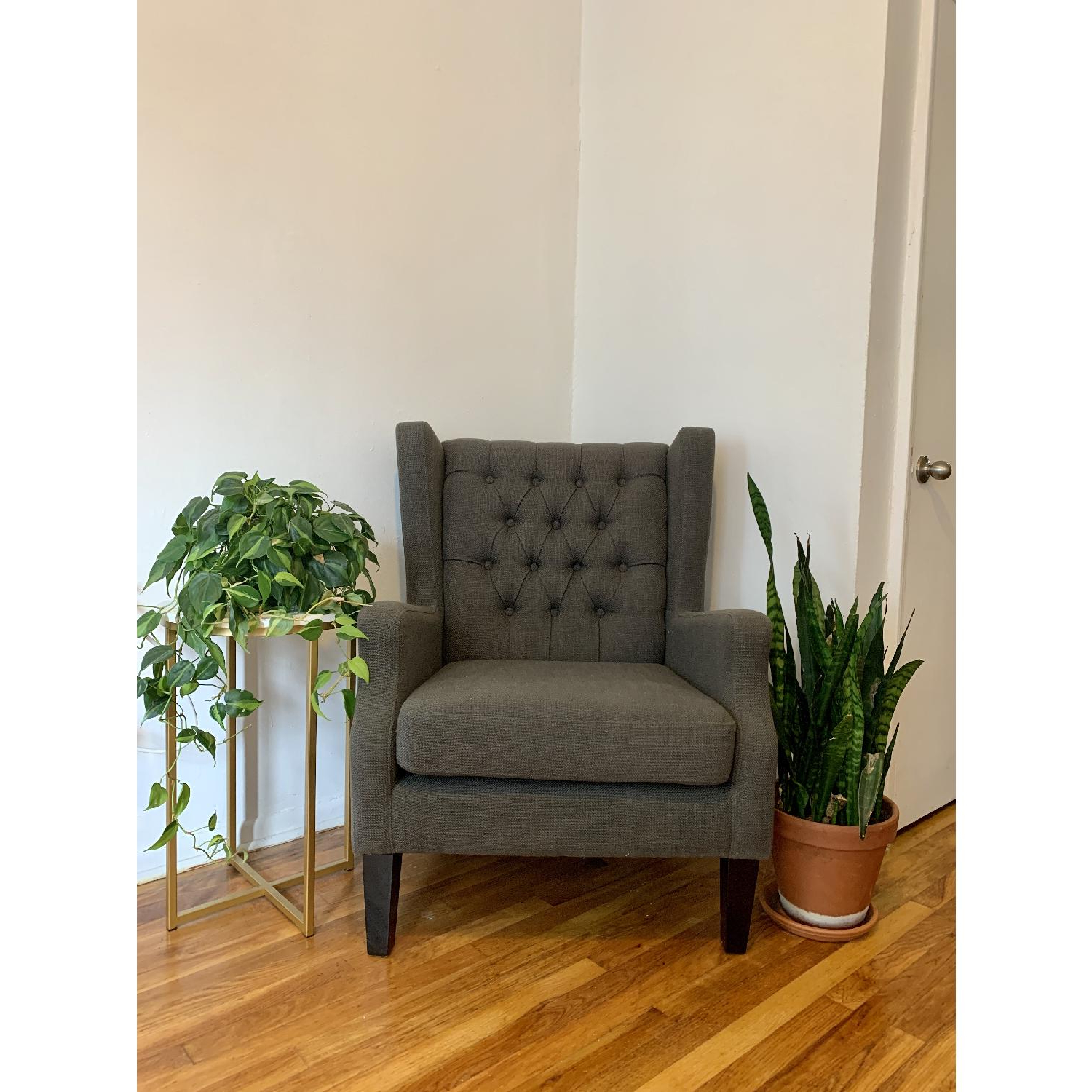 Threes Post Allis Wingback Chair With Regard To Fashionable Allis Tufted Polyester Blend Wingback Chairs (View 18 of 20)