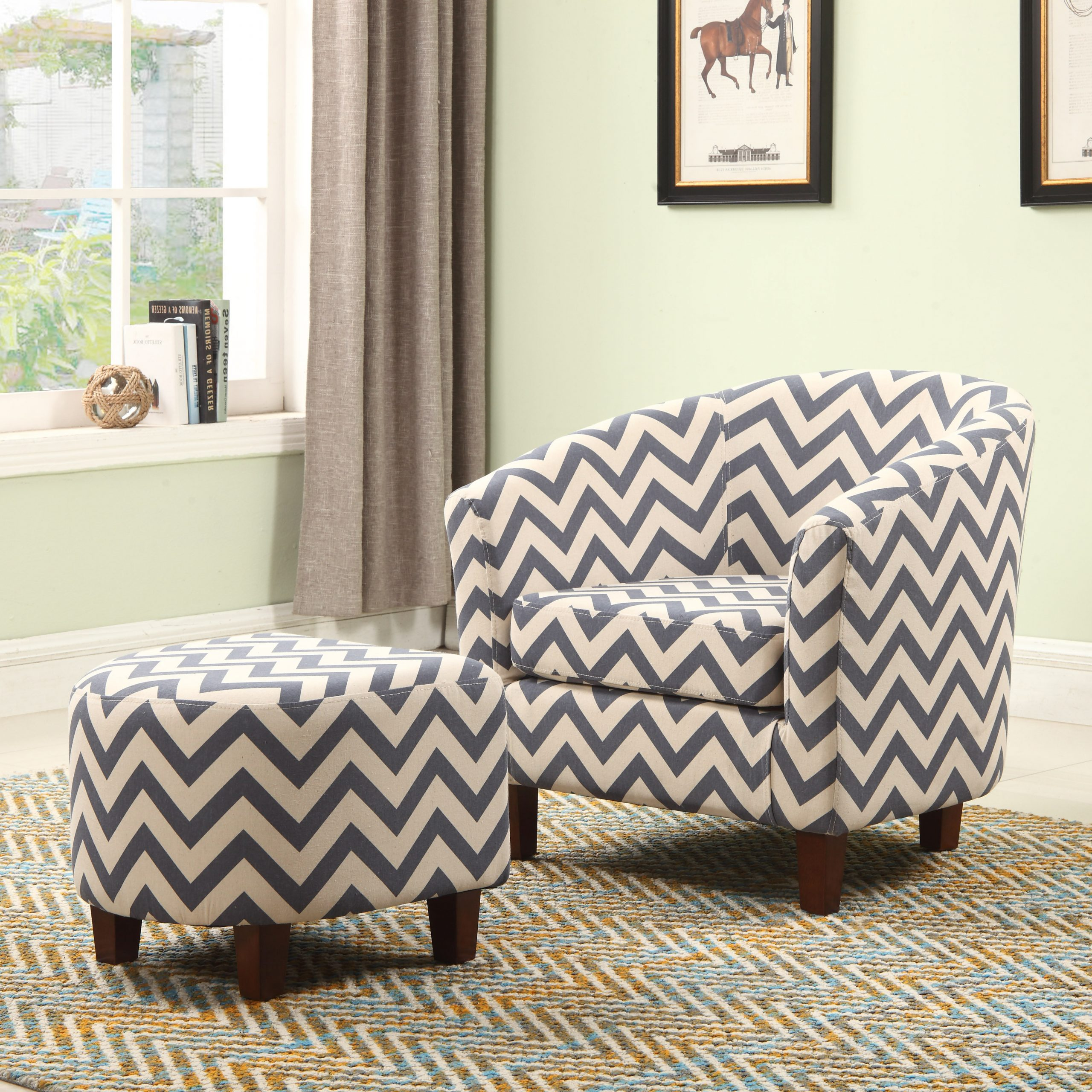 Featured Photo of Akimitsu Barrel Chair And Ottoman Sets