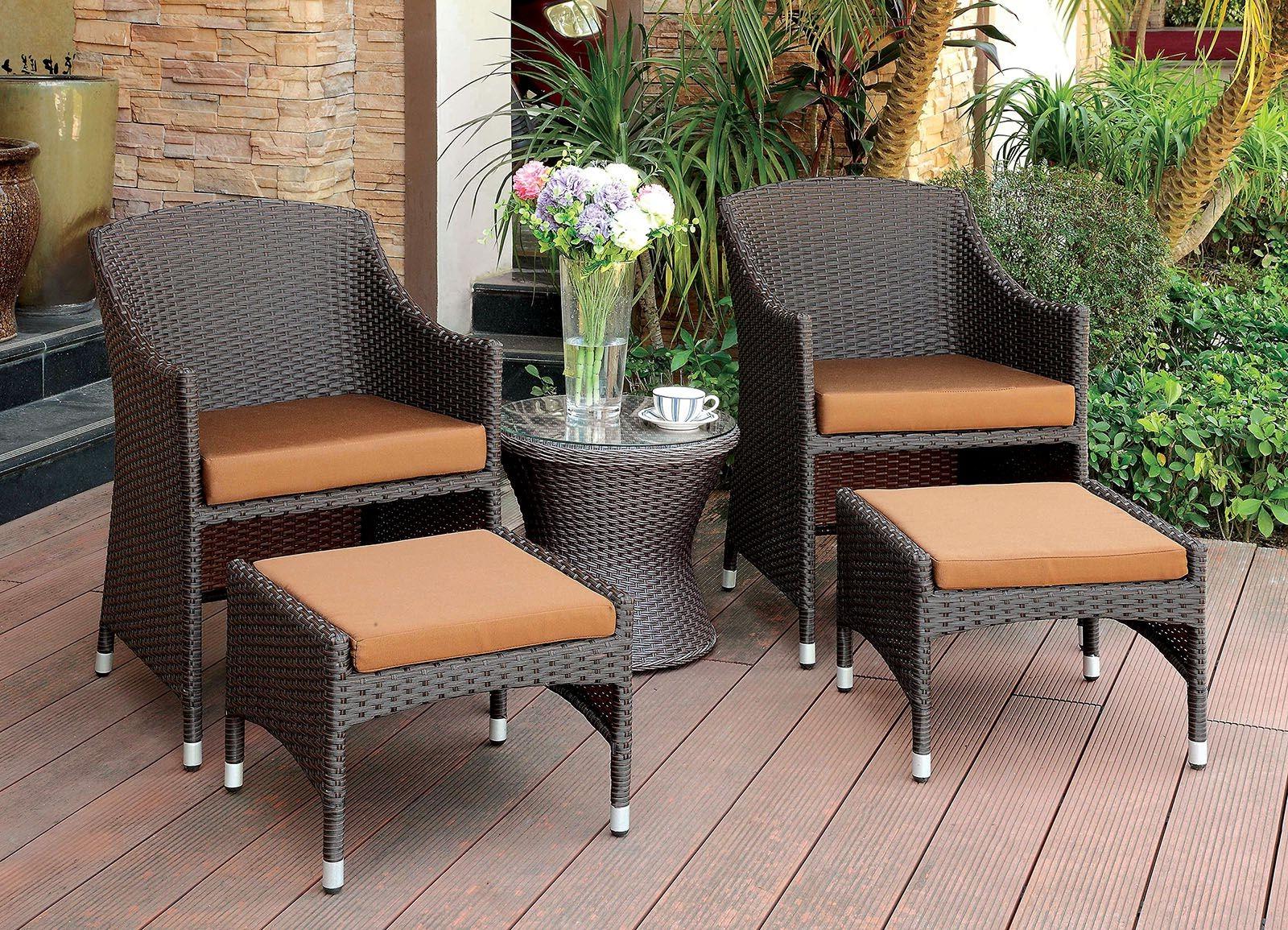 Trendy Almada Espresso Arm Chair With Ottoman Pertaining To Almada Armchairs (View 8 of 20)