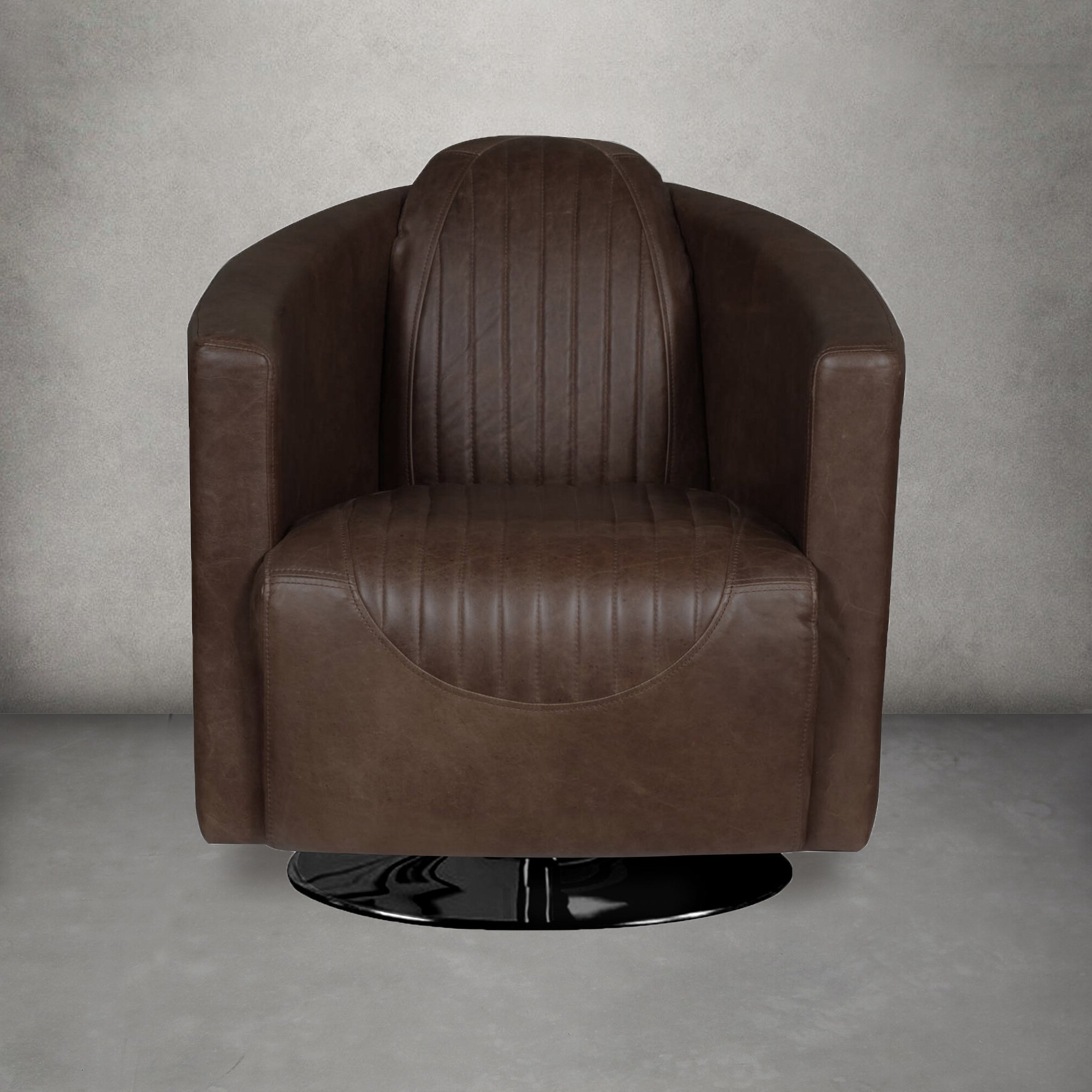 Trendy Hazley Faux Leather Swivel Barrel Chairs With Barrel 17 Stories Accent Chairs You'll Love In (View 5 of 20)