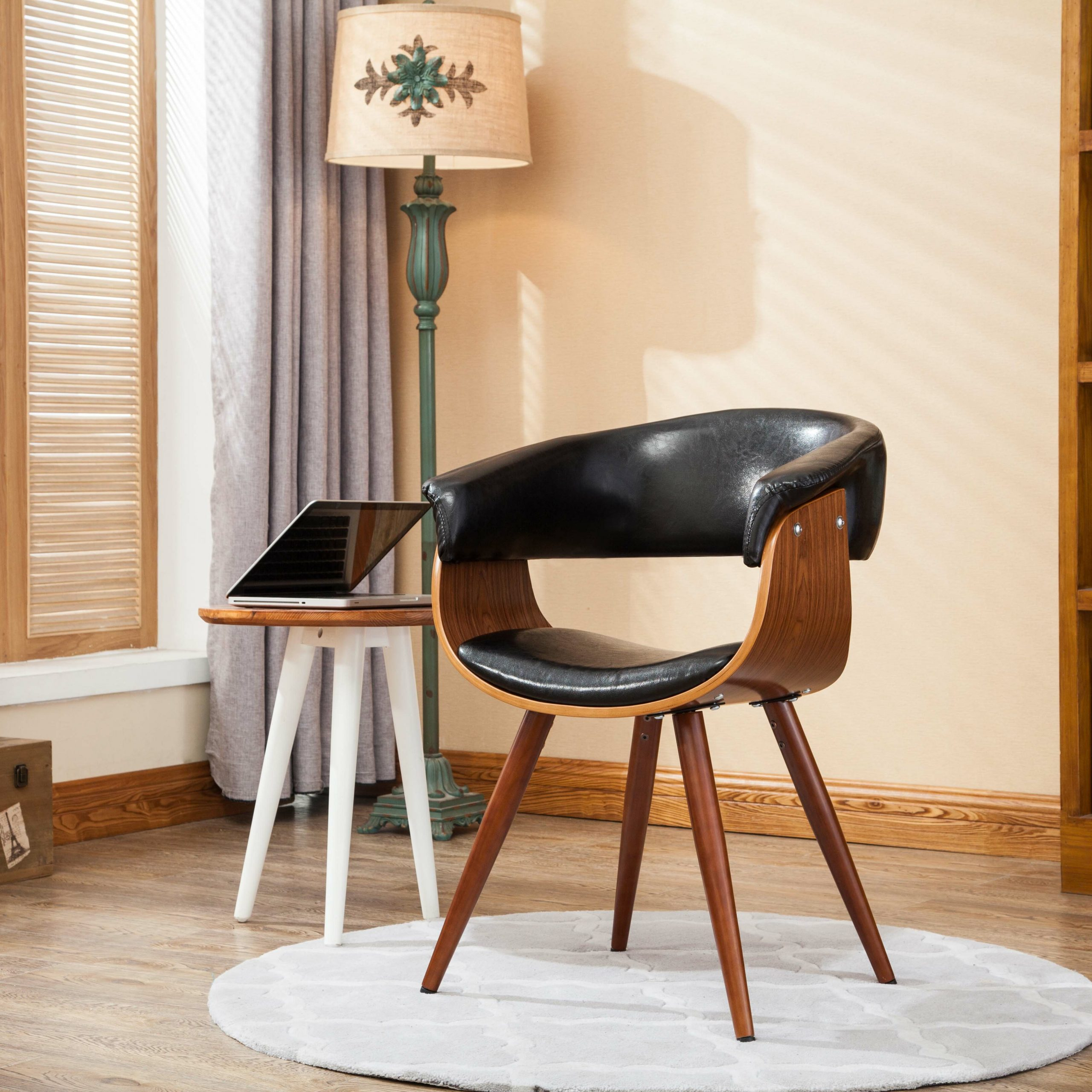 Featured Photo of Liston Faux Leather Barrel Chairs