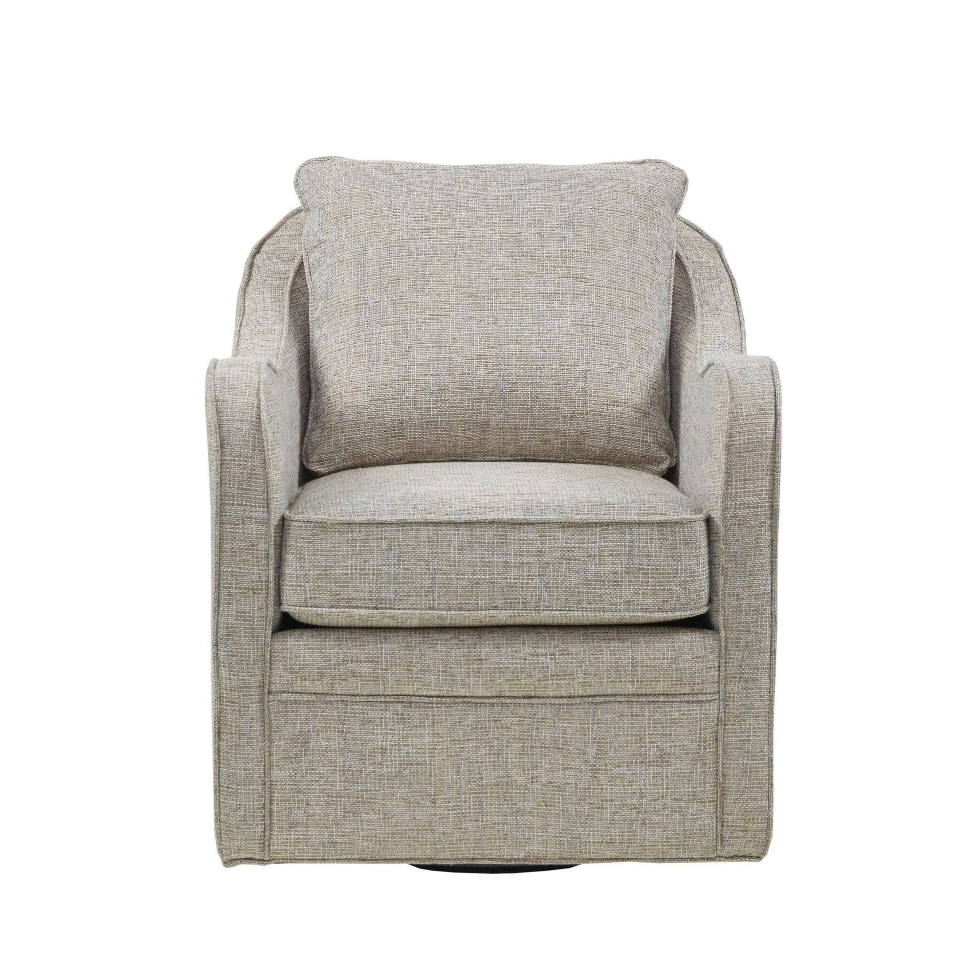 Trendy Loftus Swivel Armchairs With Regard To Madison Park Betty Slub Weave Wide Seat Swivel Arm Chair (View 18 of 20)