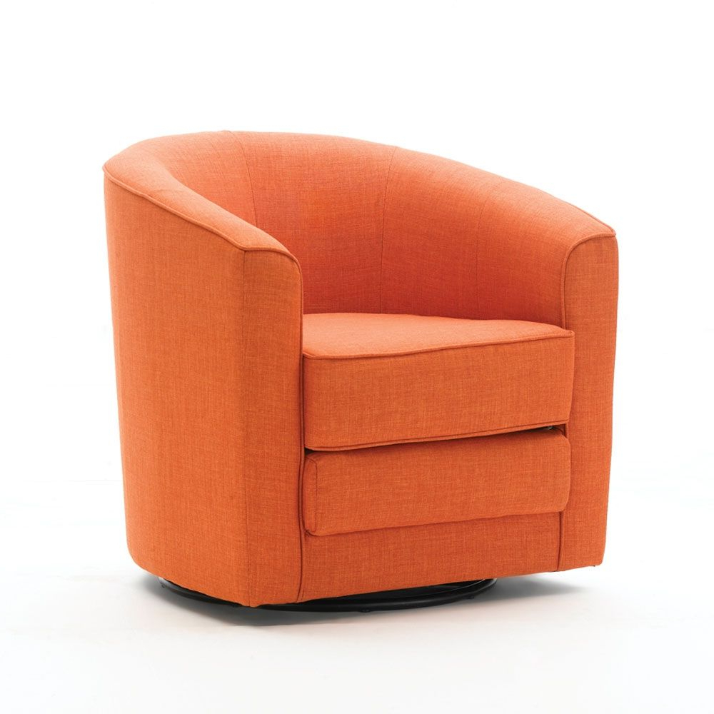 Trendy Louisiana Barrel Chairs And Ottoman For Designs For Every Lifestyle – Barrel Swivel Chair, Orange (View 9 of 20)