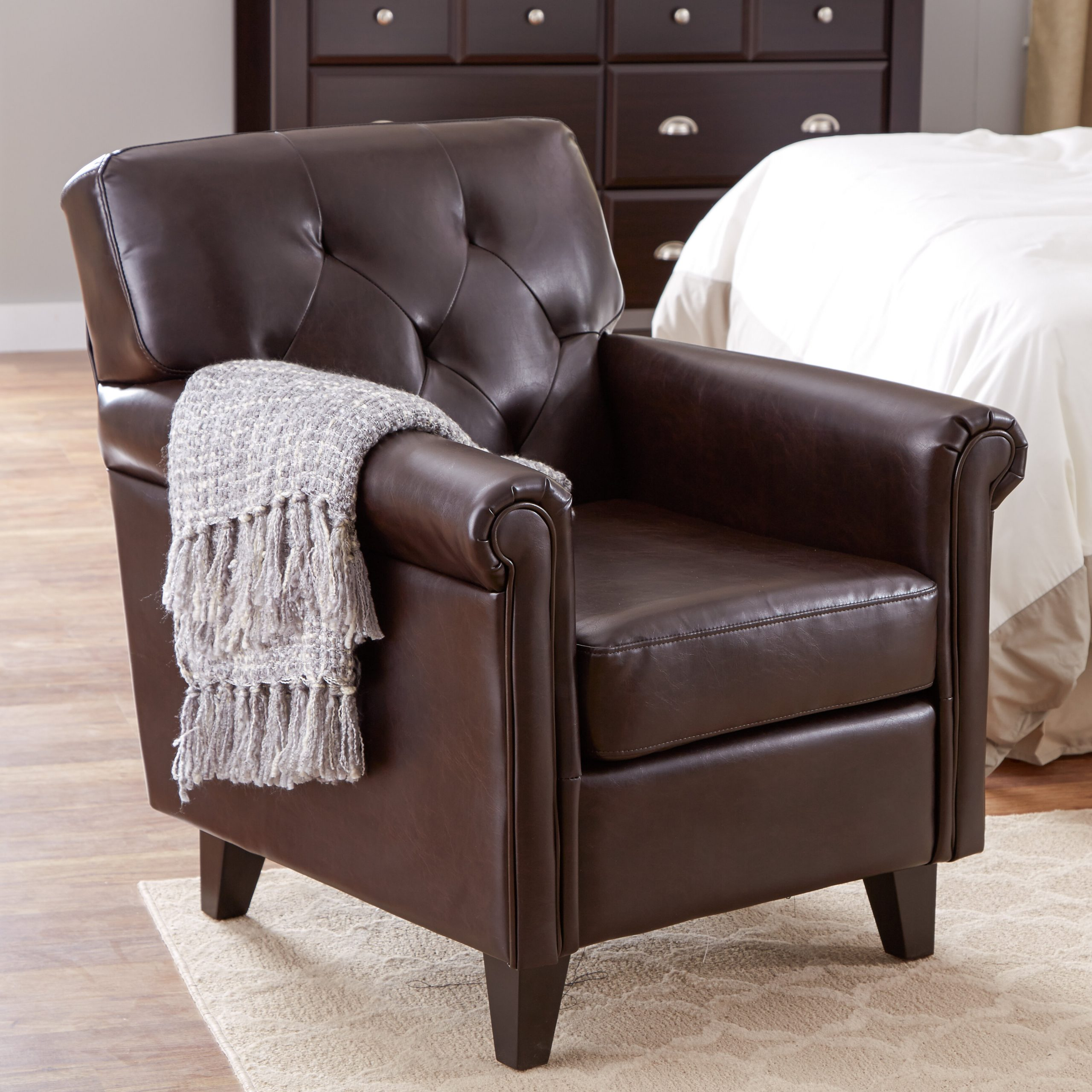 Trendy Montenegro Faux Leather Club Chairs With Club Accent Chairs You'll Love In (View 9 of 20)