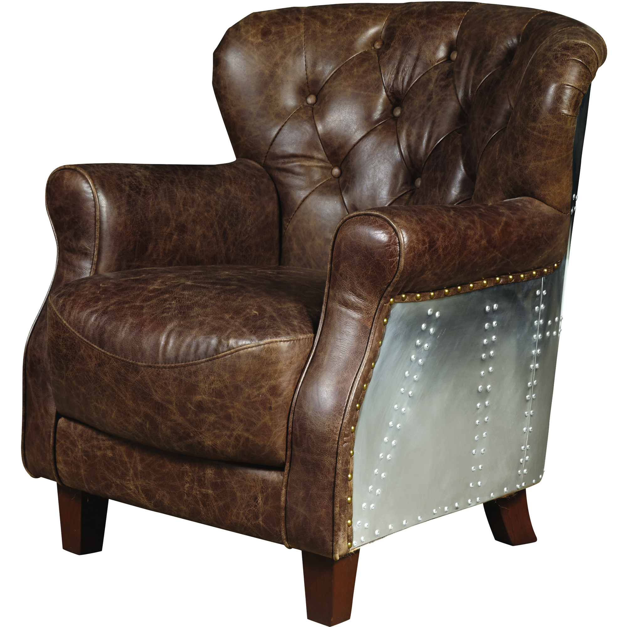 Tufted Arm Chair, Leather Accent (View 18 of 20)