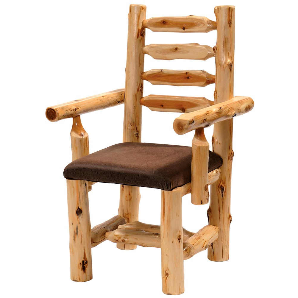 Upholstered Log Arm Chair: Cabin Place Throughout Preferred Deer Trail Armchairs (View 19 of 20)