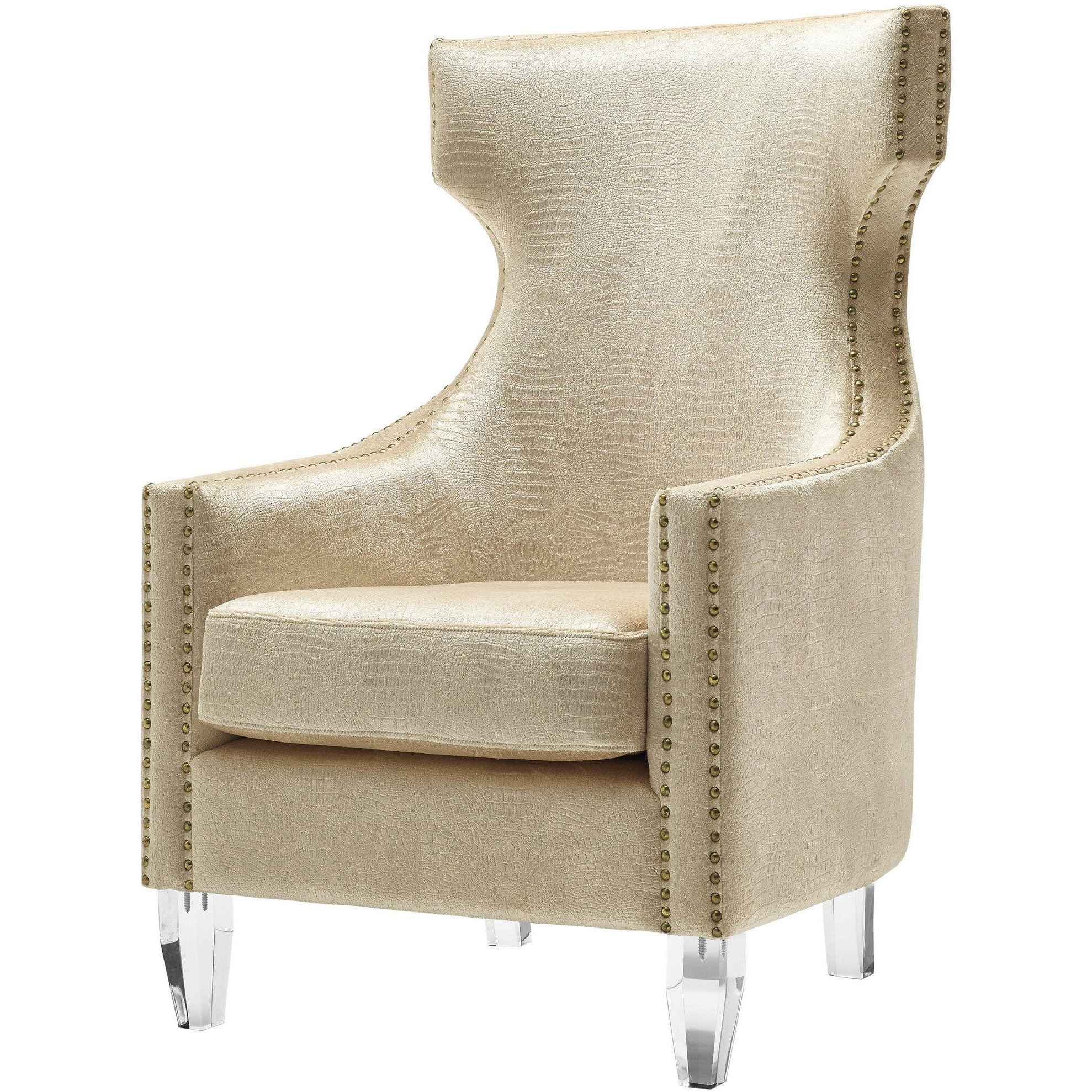 Velvet Wing Chair Regarding Well Liked Saige Wingback Chairs (View 15 of 20)