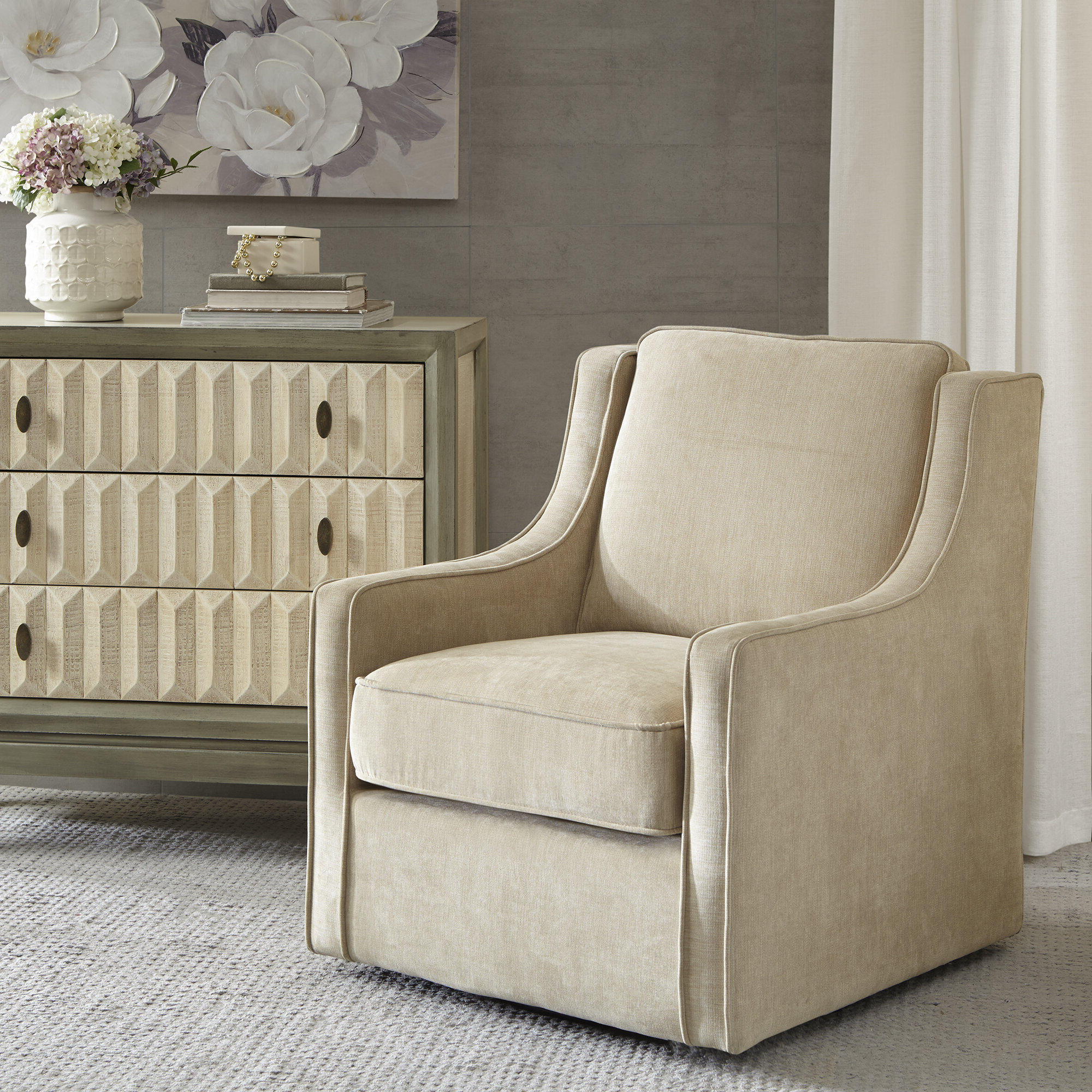 Vineland Swivel Armchair In Favorite Vineland Polyester Swivel Armchairs (View 3 of 20)