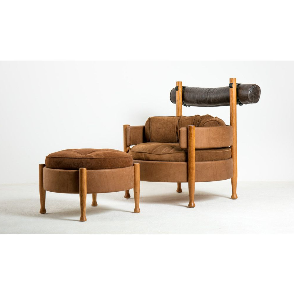 Vivi Lounge Armchair And Ottomansergio Rodrigues Inside Most Recently Released Modern Armchairs And Ottoman (View 10 of 20)