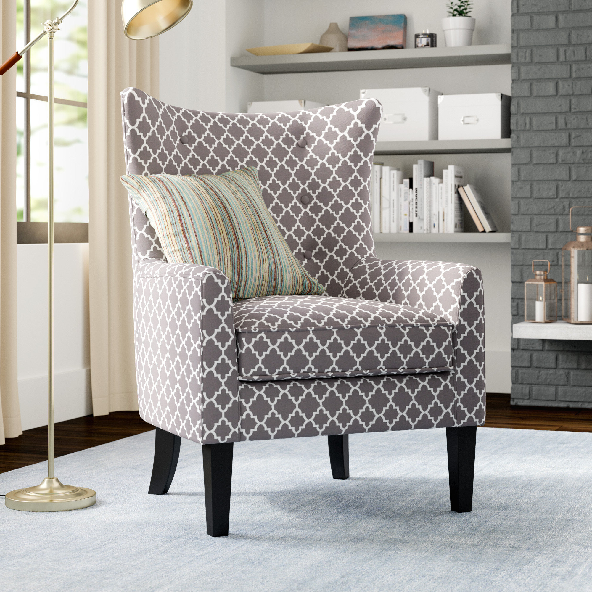 """Wainfleet Armchairs Pertaining To Most Current Dycus 30"""" W Polyester Armchair (View 10 of 20)"""