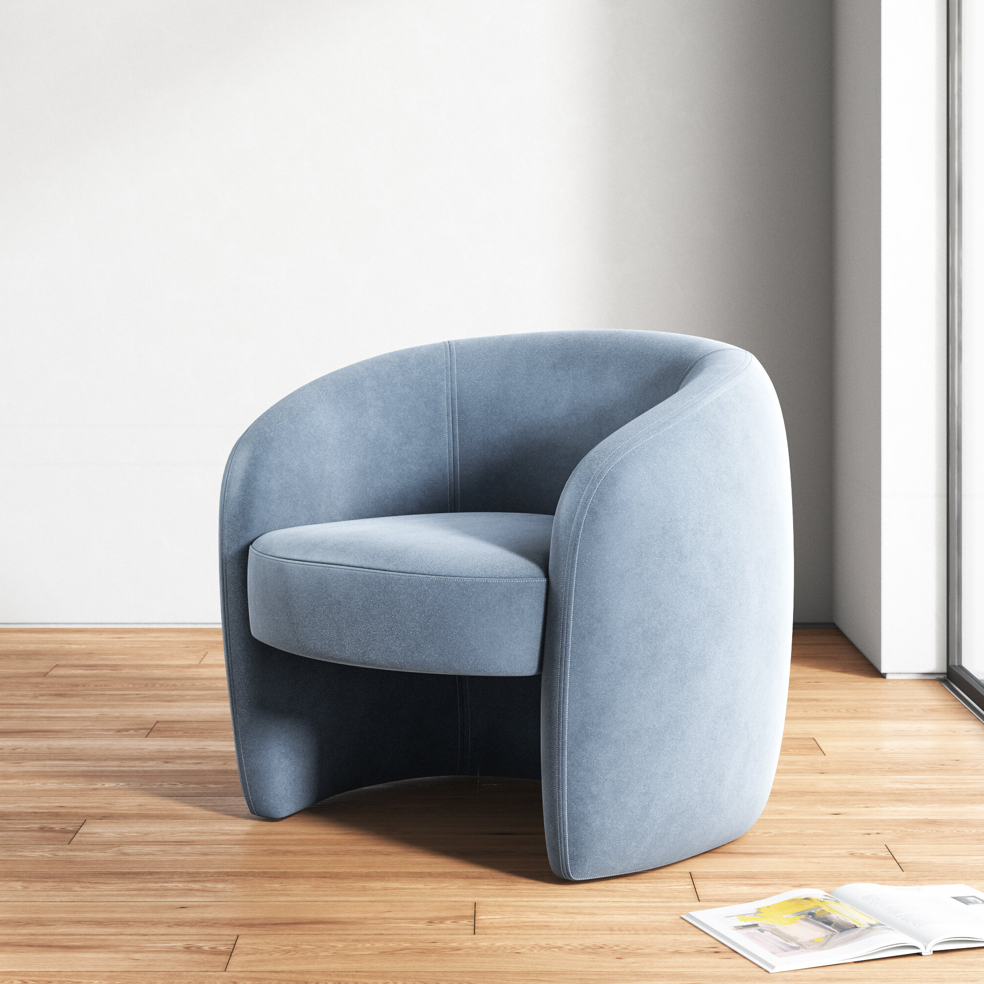 Wayfair For Indianola Modern Barrel Chairs (View 4 of 20)