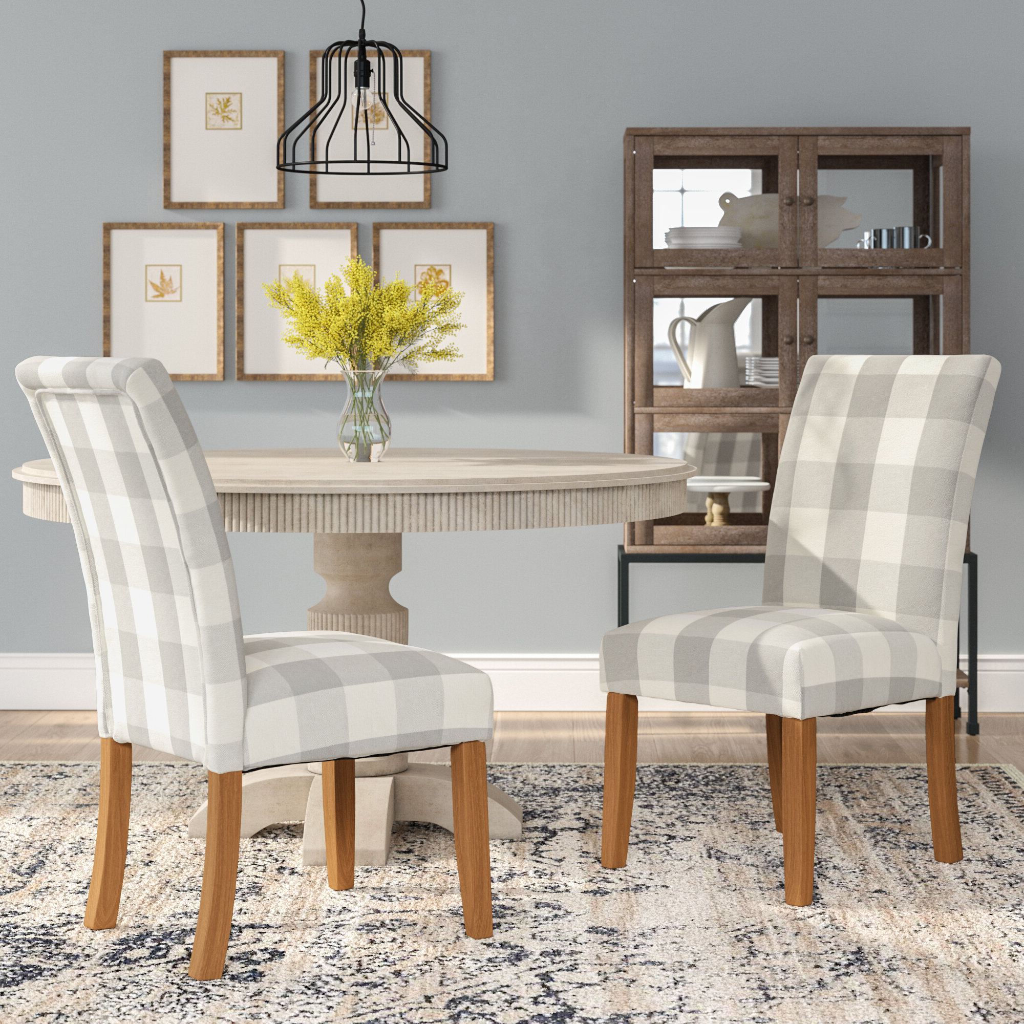 Wayfair In 2019 Aime Upholstered Parsons Chairs In Beige (View 5 of 20)