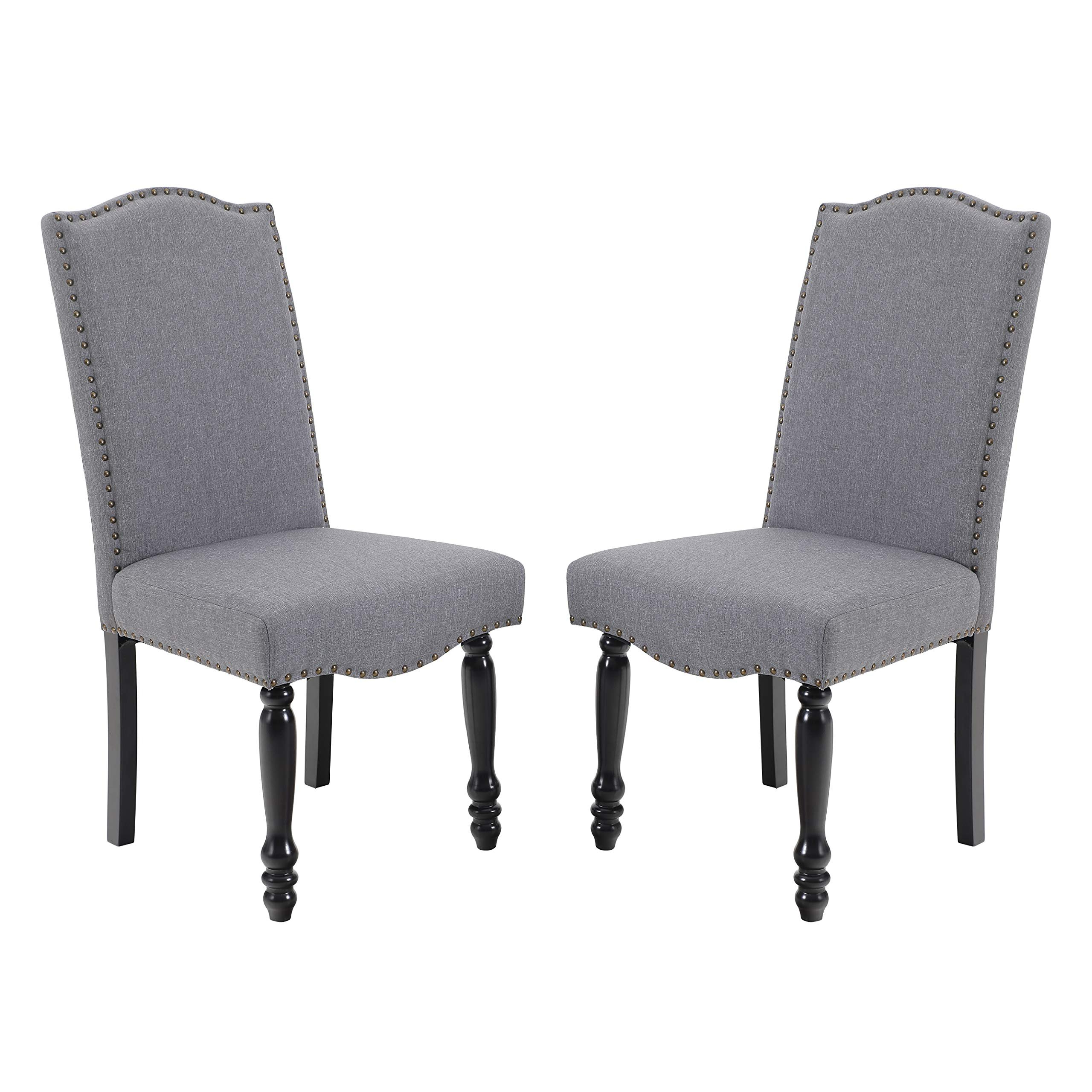 Wayfair In Madison Avenue Tufted Cotton Upholstered Dining Chairs (set Of 2) (View 2 of 20)