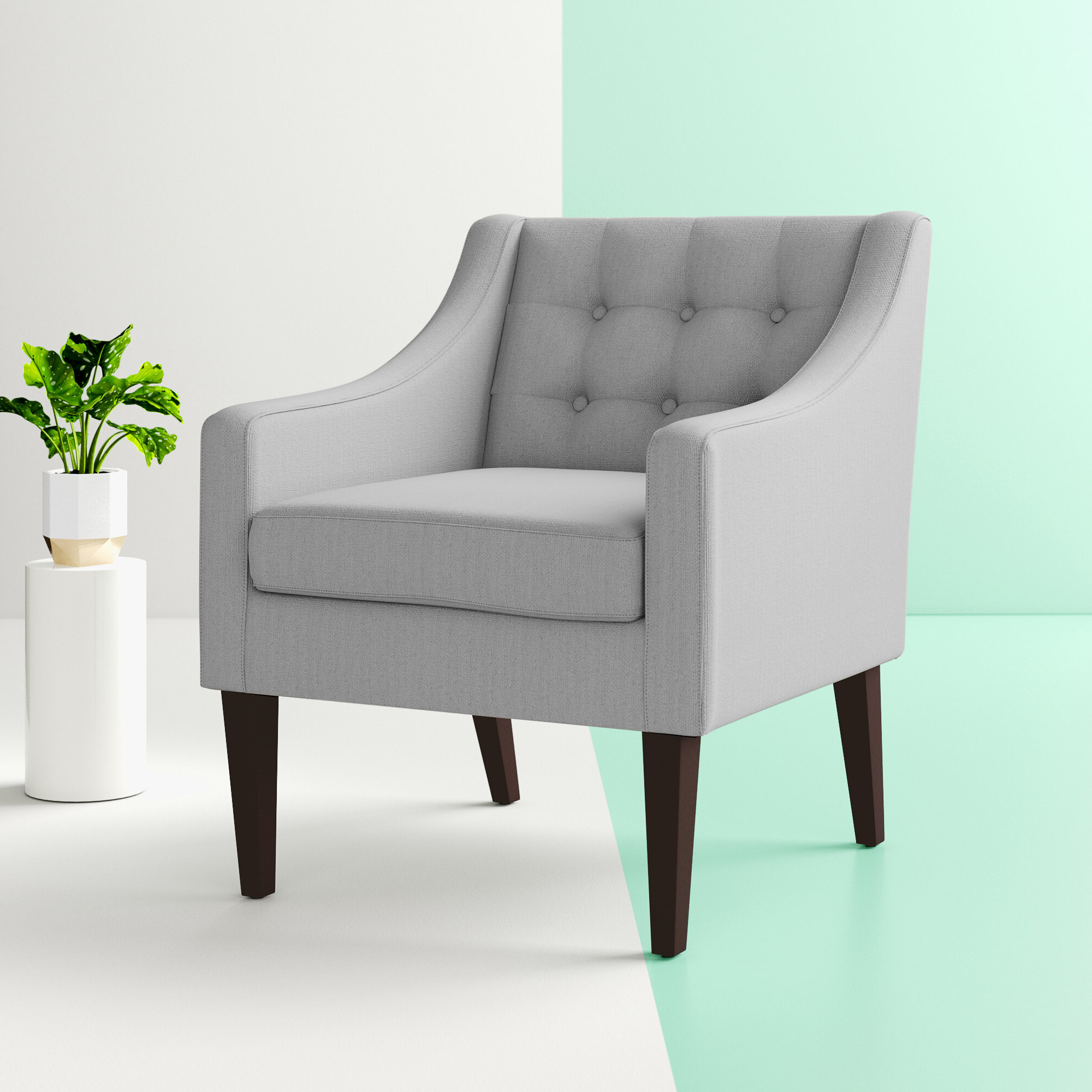Wayfair In Widely Used Bethine Polyester Armchairs (set Of 2) (View 6 of 20)
