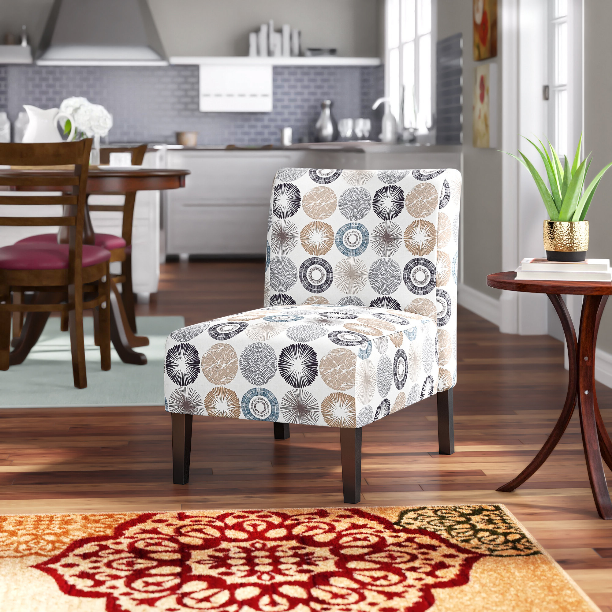 Wayfair Inside Preferred Ansar Faux Leather Barrel Chairs (View 15 of 20)