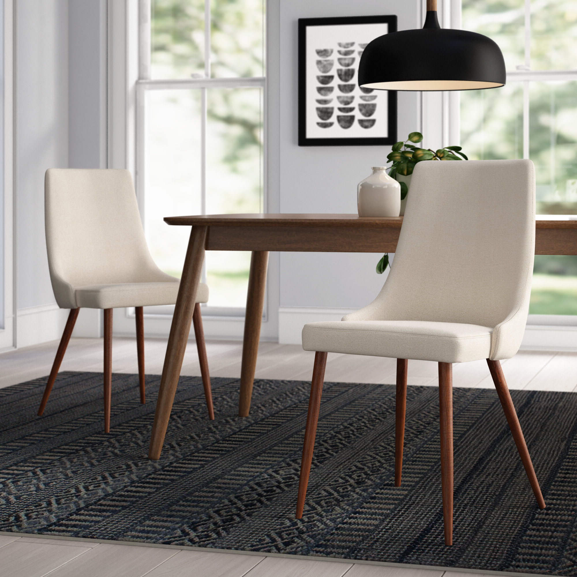 Wayfair Intended For Best And Newest Madison Avenue Tufted Cotton Upholstered Dining Chairs (set Of 2) (View 4 of 20)