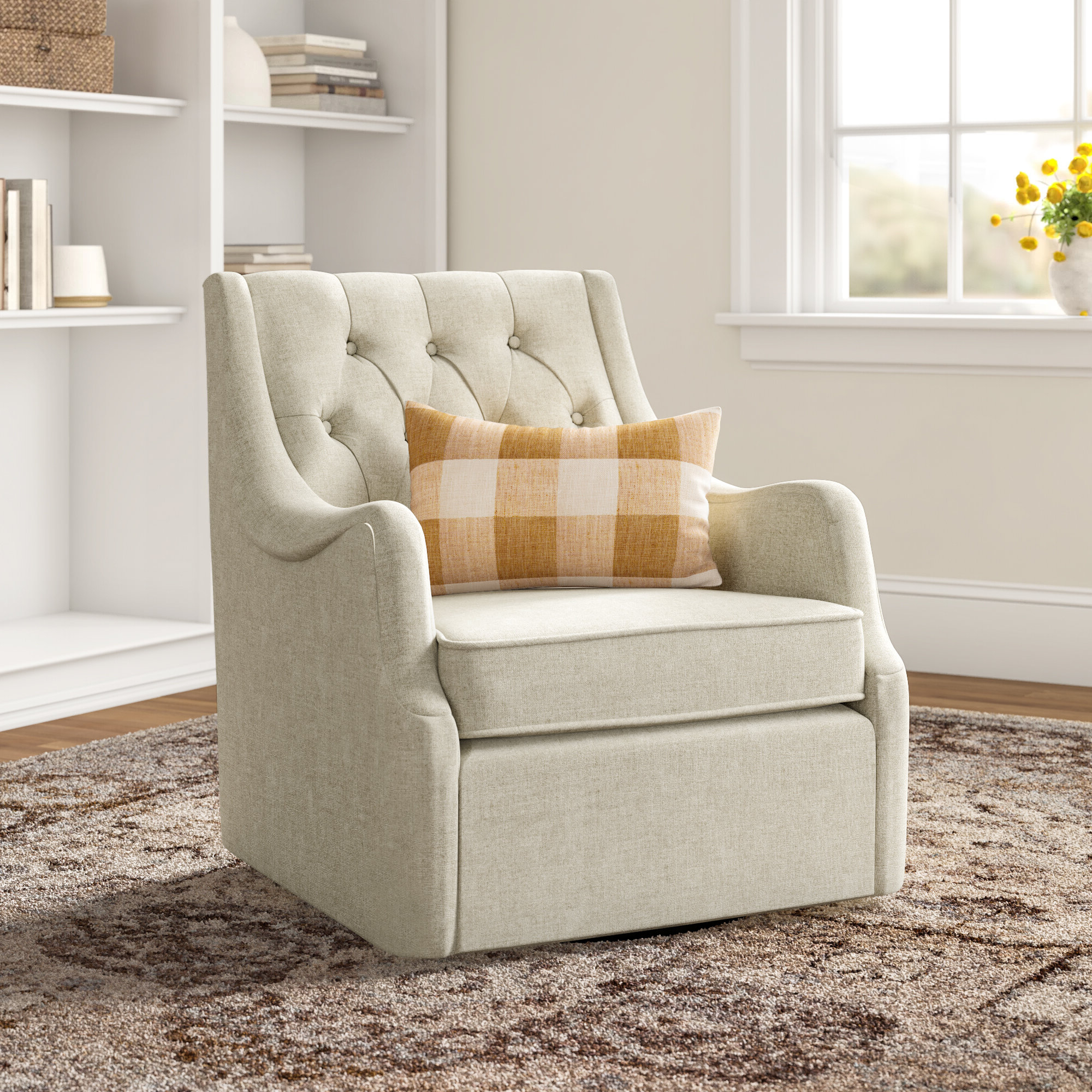 Wayfair With Most Current Zalina Swivel Armchairs (View 11 of 20)