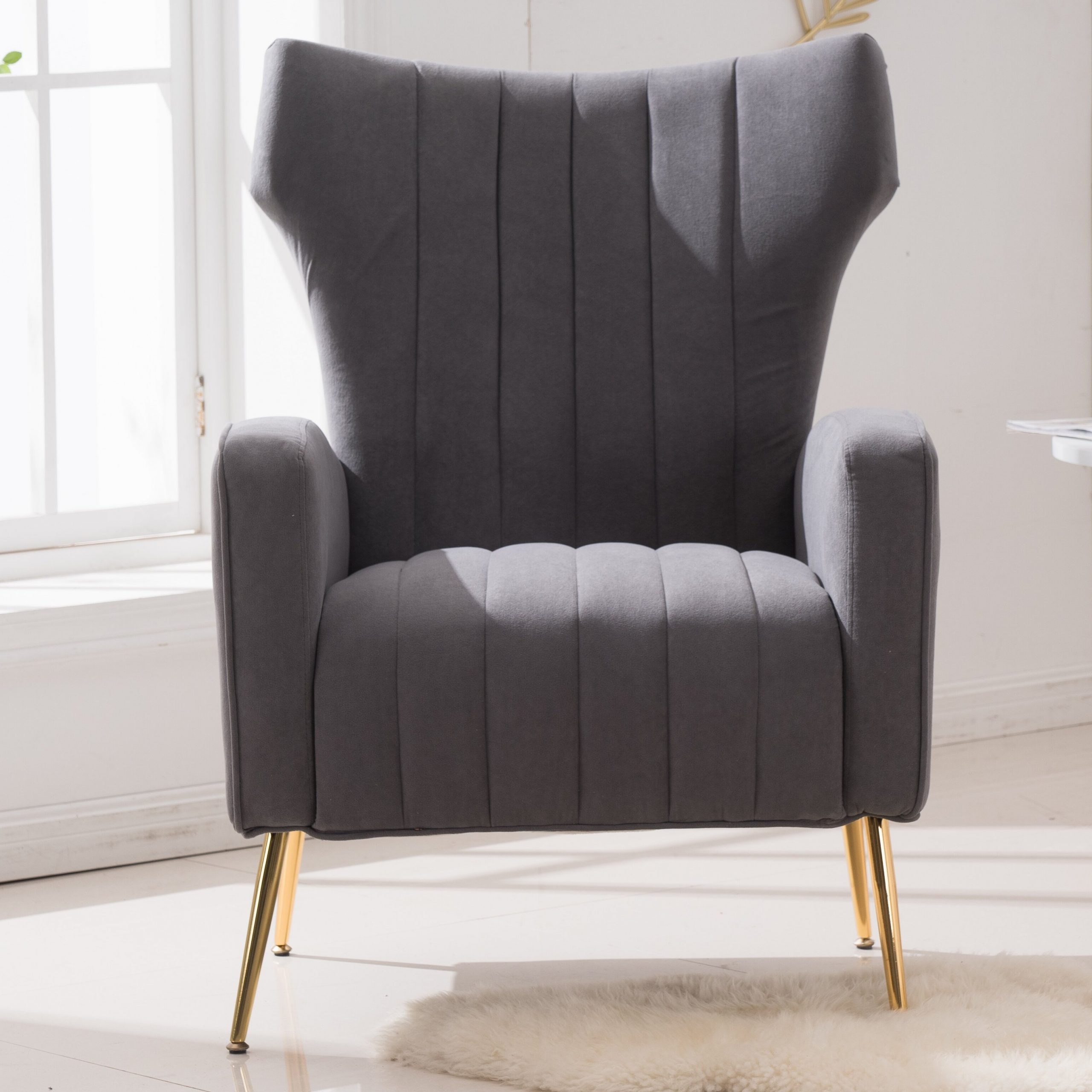 Wayfair Within 2019 Lauretta Velvet Wingback Chairs (View 14 of 20)