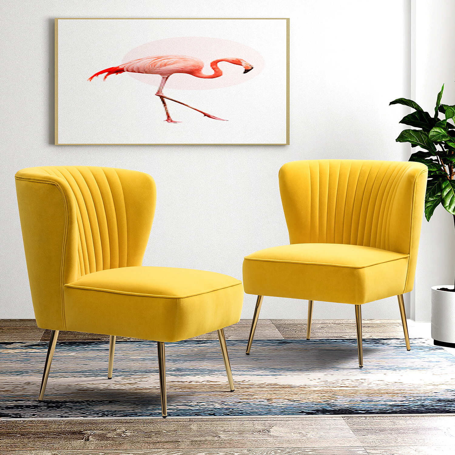 Wayfair Within Most Current Erasmus Velvet Side Chairs (set Of 2) (View 14 of 20)