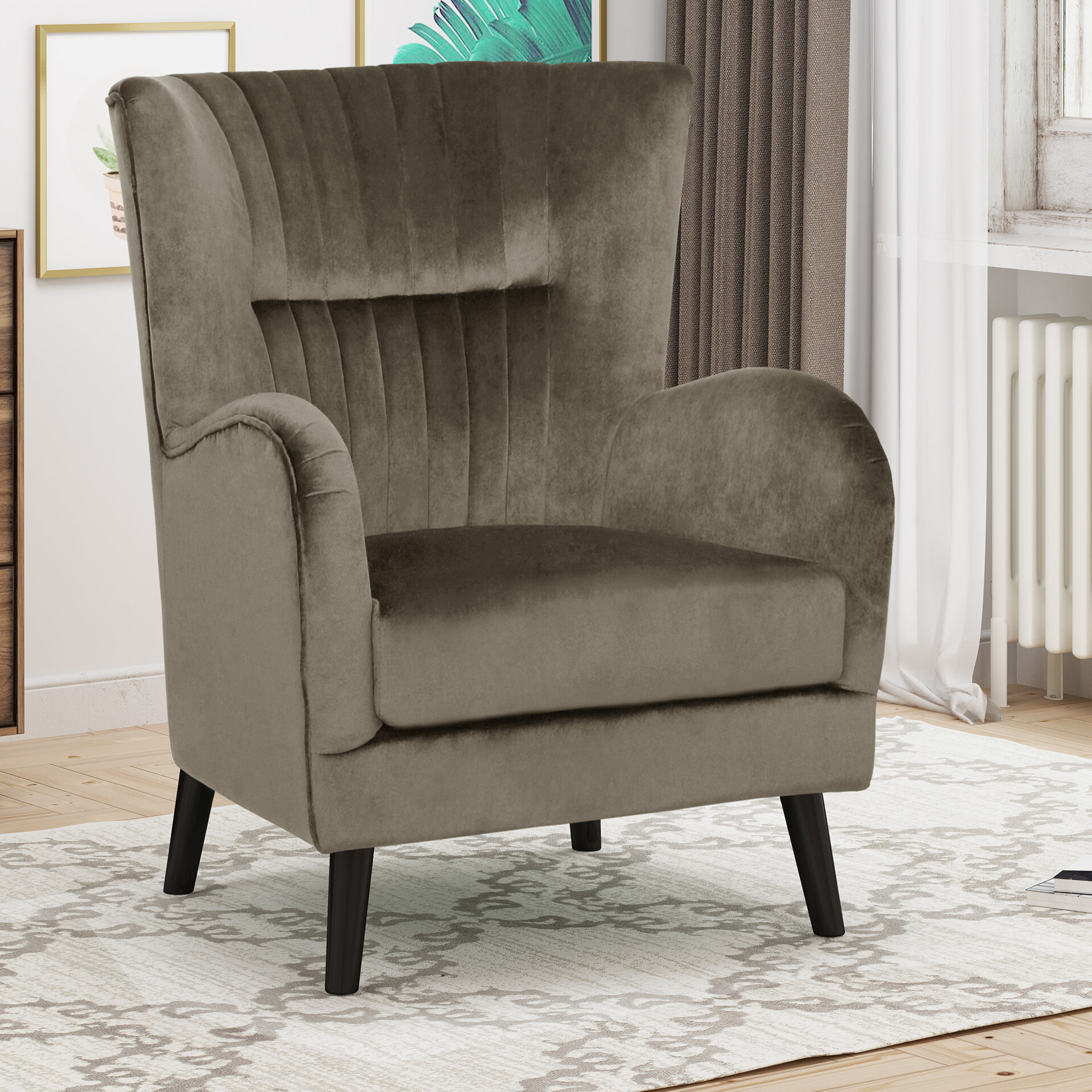 """Well Known Andover Wingback Chairs Regarding Winterburn 31"""" Wingback Chair (View 12 of 20)"""
