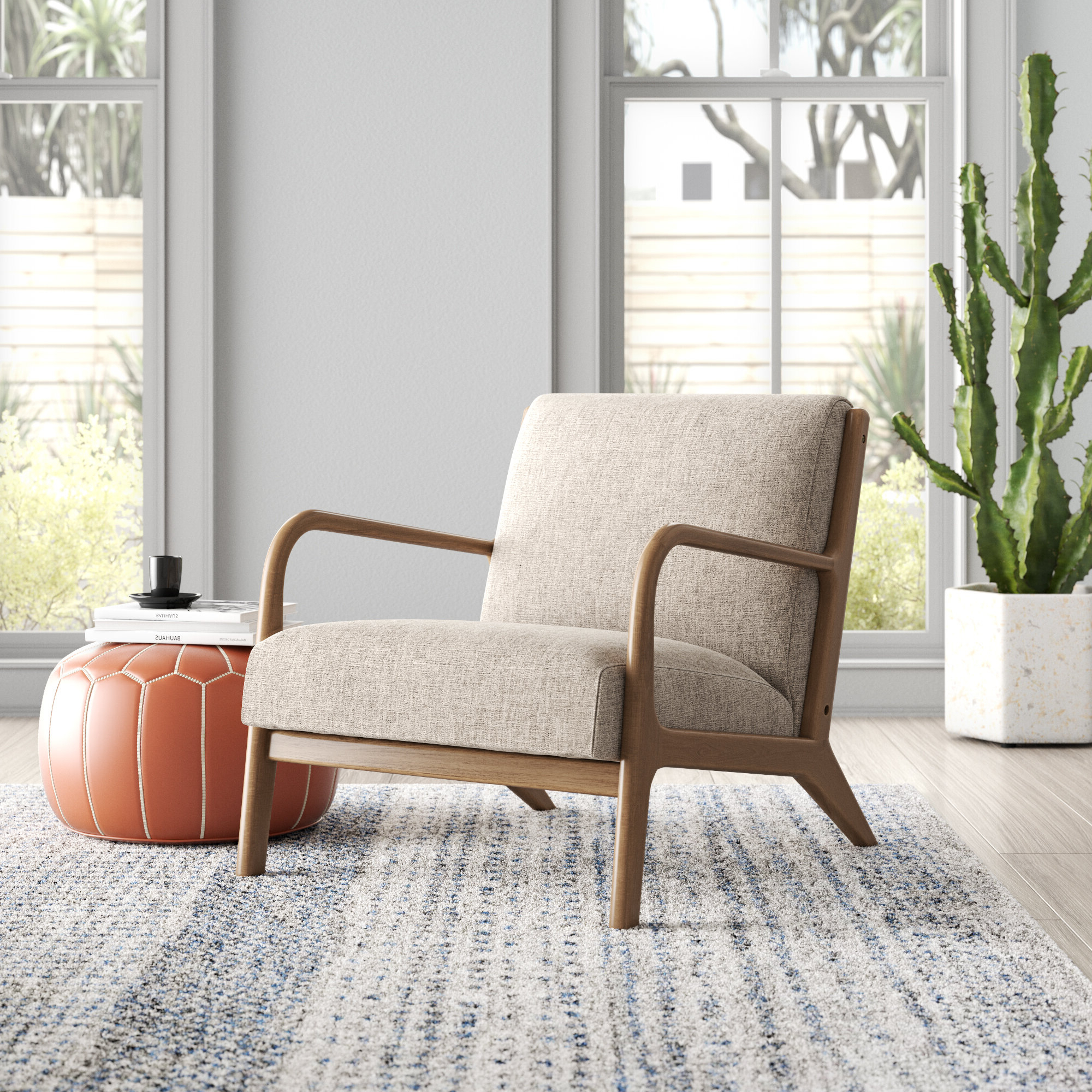 Well Known Arm Modern & Contemporary Accent Chairs You'll Love In 2021 Regarding Bethine Polyester Armchairs (set Of 2) (View 5 of 20)