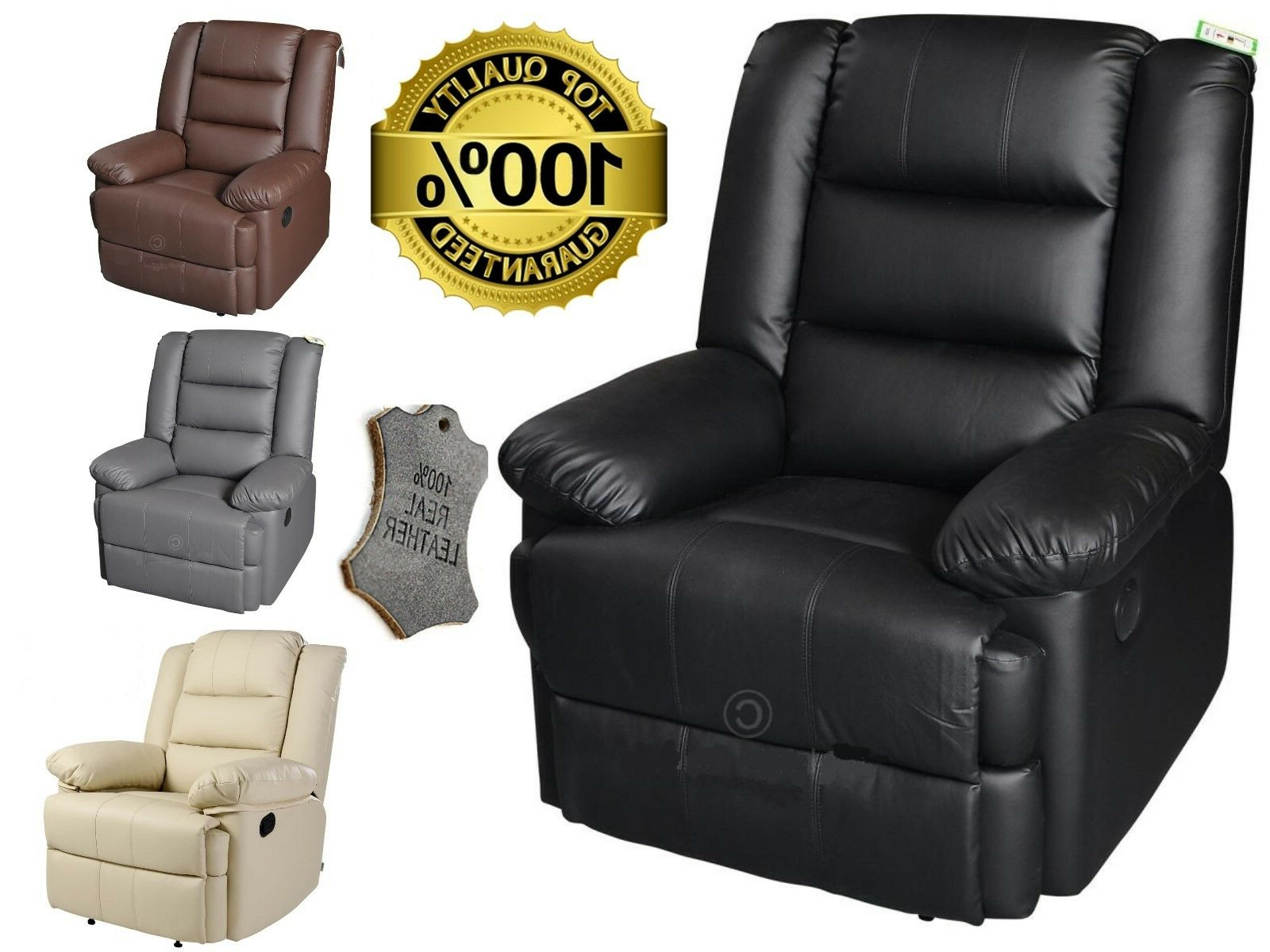 Well Known Details About Capri Luxury Bonded Leather Electric Recliner Chair Leather Armchair Furniture In Montenegro Faux Leather Club Chairs (View 10 of 20)