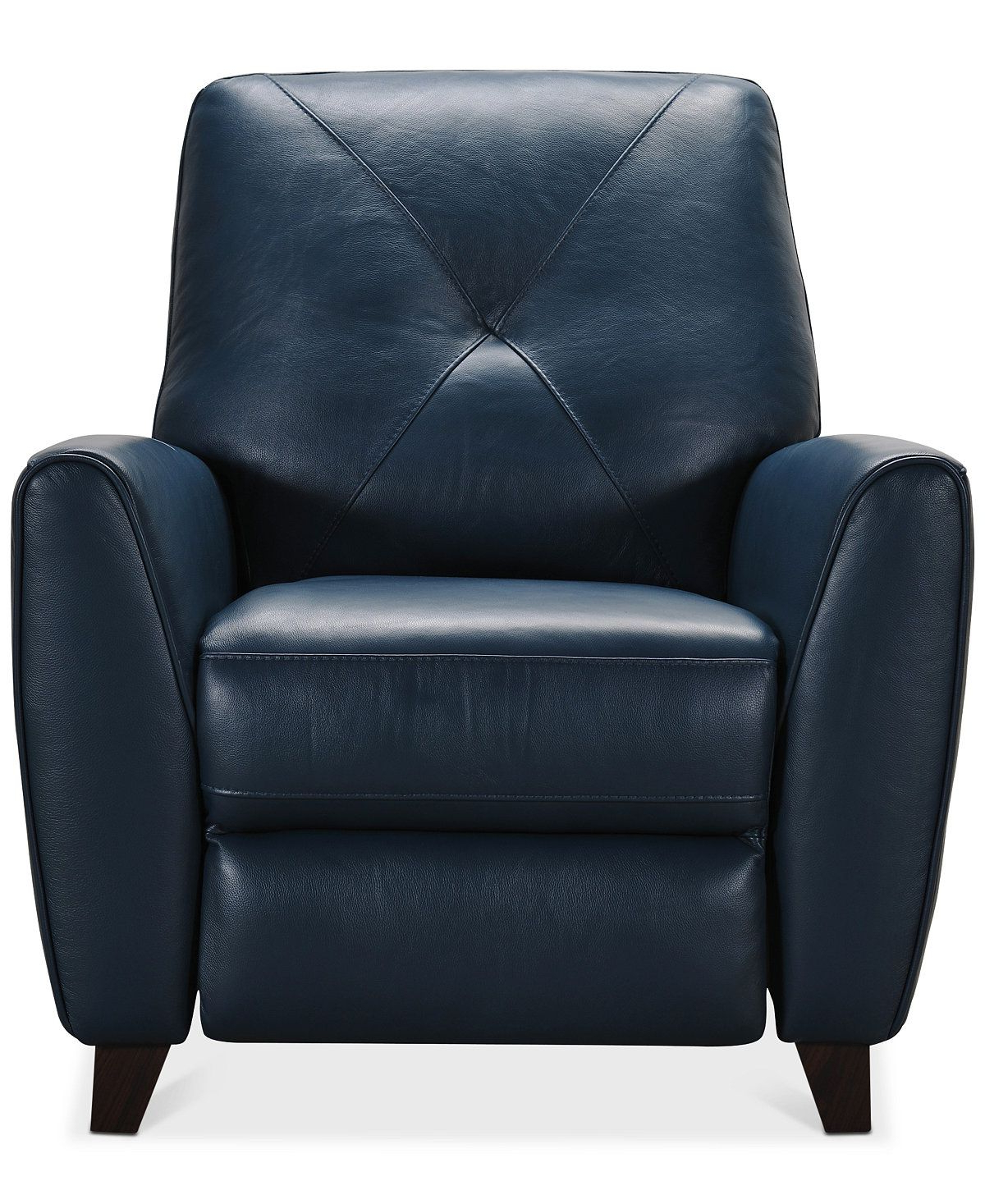 Well Known Furniture Myia Leather Pushback Recliner, Created For Macy's Regarding Myia Armchairs (View 14 of 20)