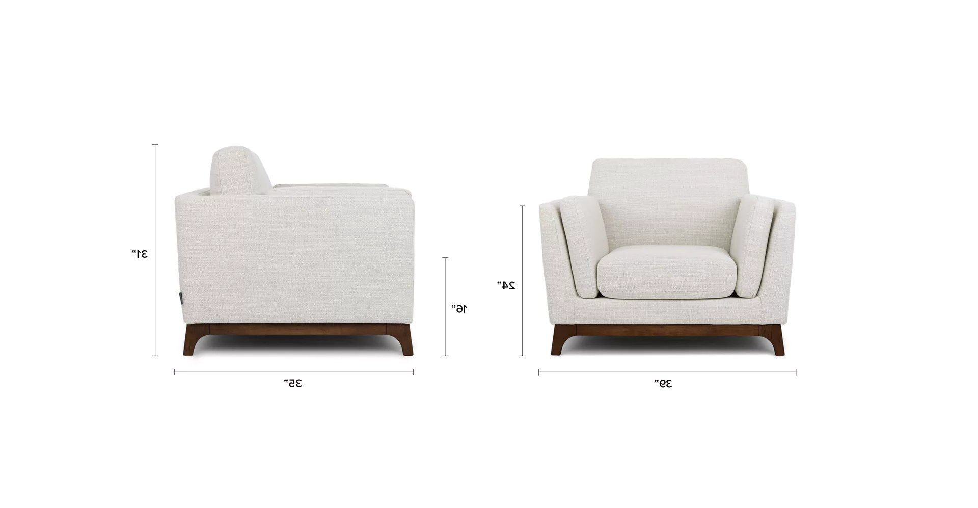 Well Known Haleigh Armchairs Within Ceni Fresh White Armchair – Article (View 10 of 20)
