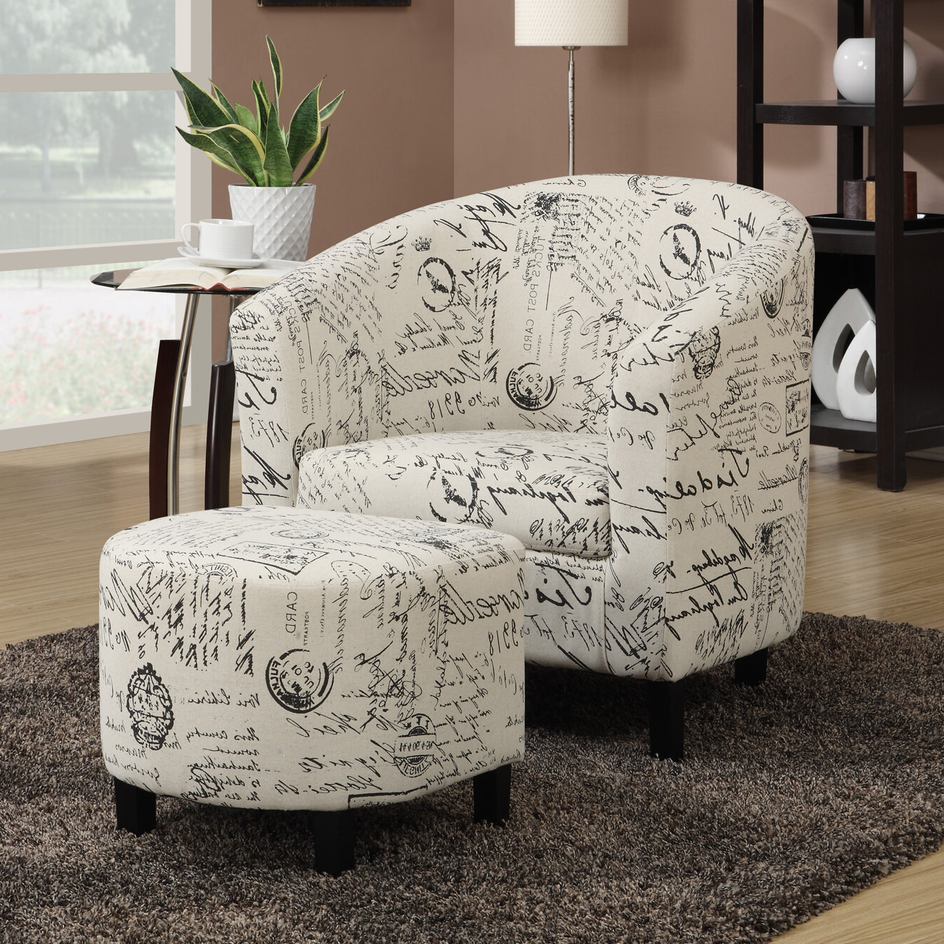 Well Known Lau Barrel Chairs Throughout Emory Barrel Chair With Ottoman (View 7 of 20)
