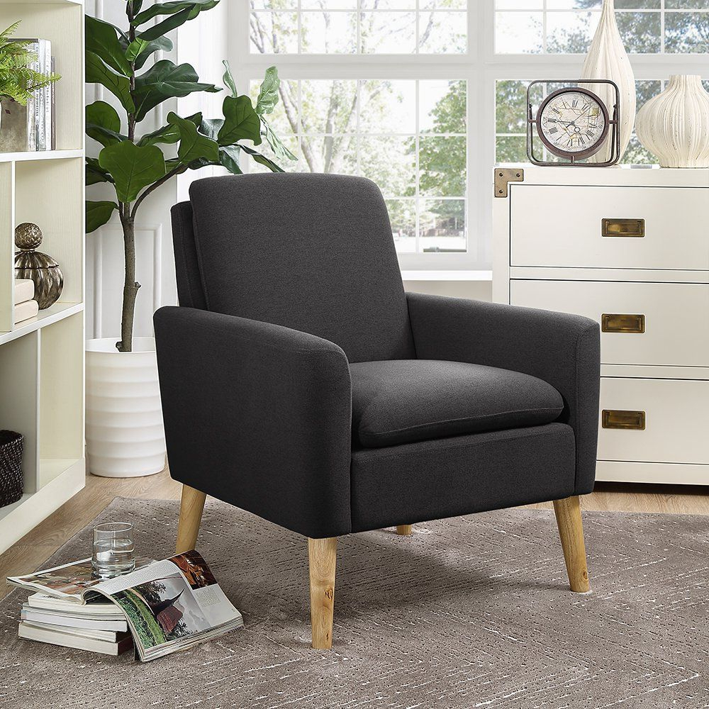 Well Known Lucea Faux Leather Barrel Chairs And Ottoman Throughout Amazon: Lohoms Modern Accent Fabric Chair Single Sofa (View 17 of 20)