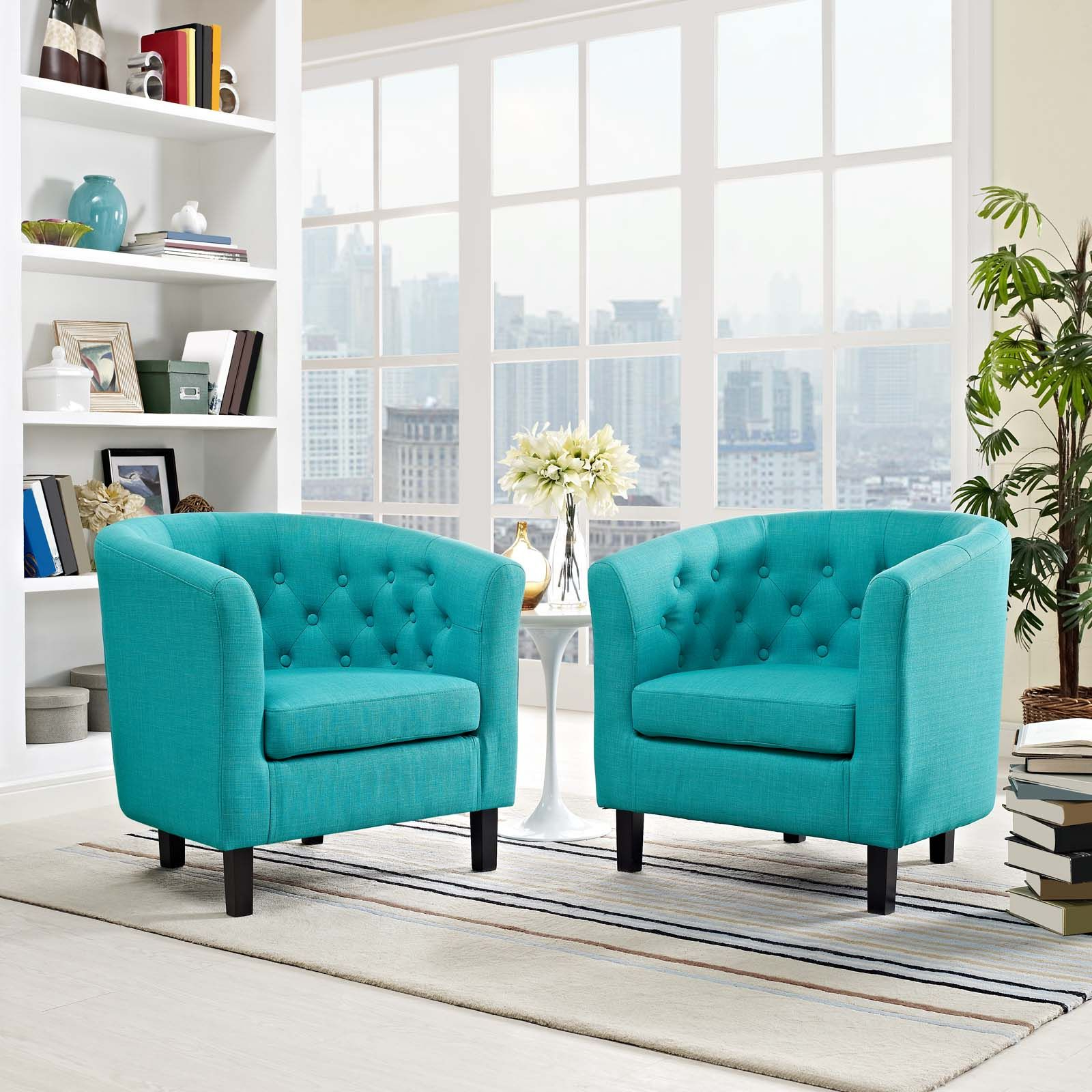 Well Known Modway Prospect 2 Piece Upholstered Fabric Armchair Set With Regard To Hutchinsen Polyester Blend Armchairs (View 12 of 20)