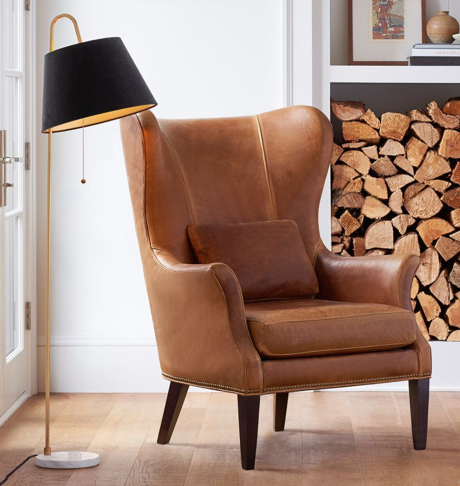 Well Known Pin On Wingback Chair With Regard To Marisa Faux Leather Wingback Chairs (View 4 of 20)